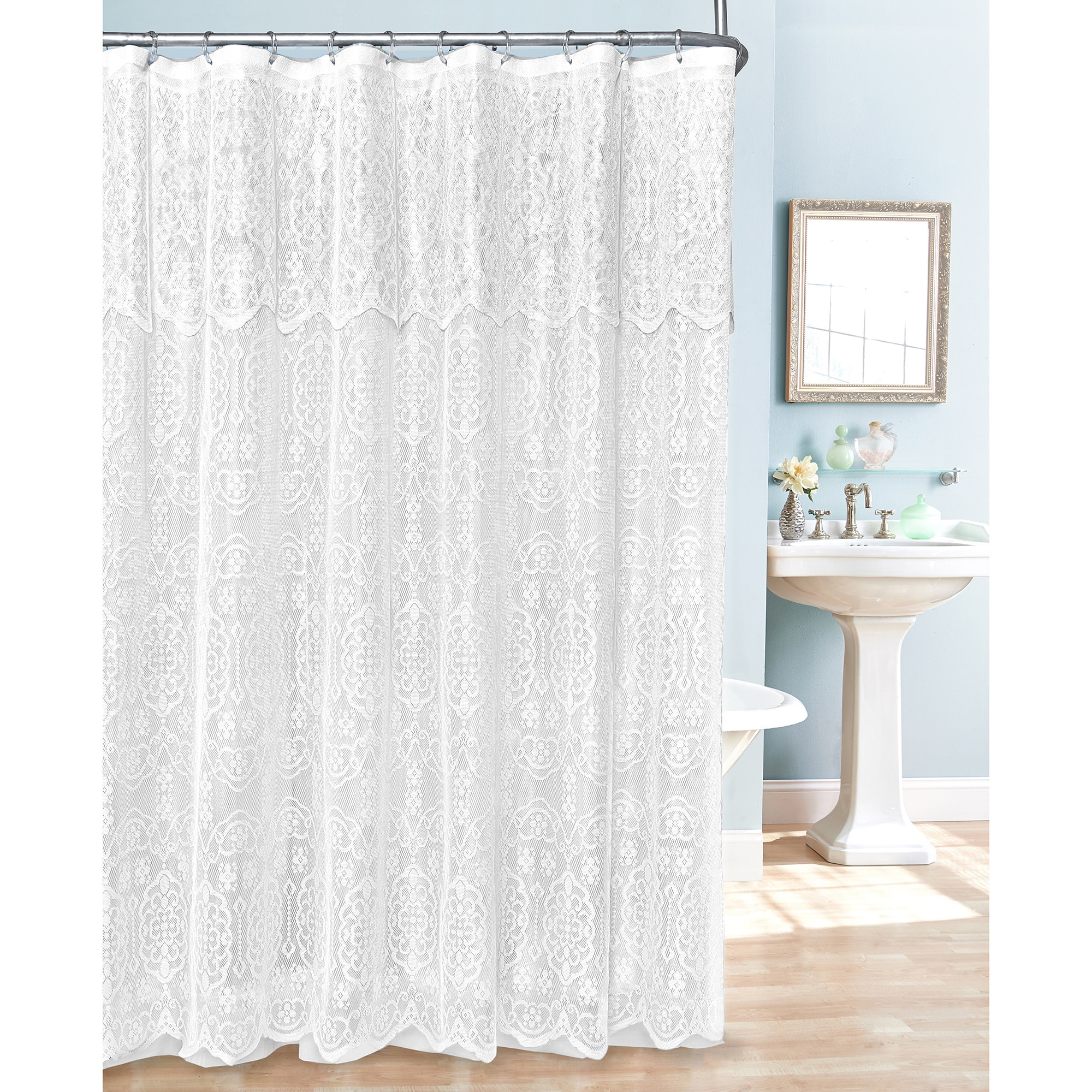 Lace Shower Curtain - Free Shipping On Orders Over $45 - Overstock.com -  17461037