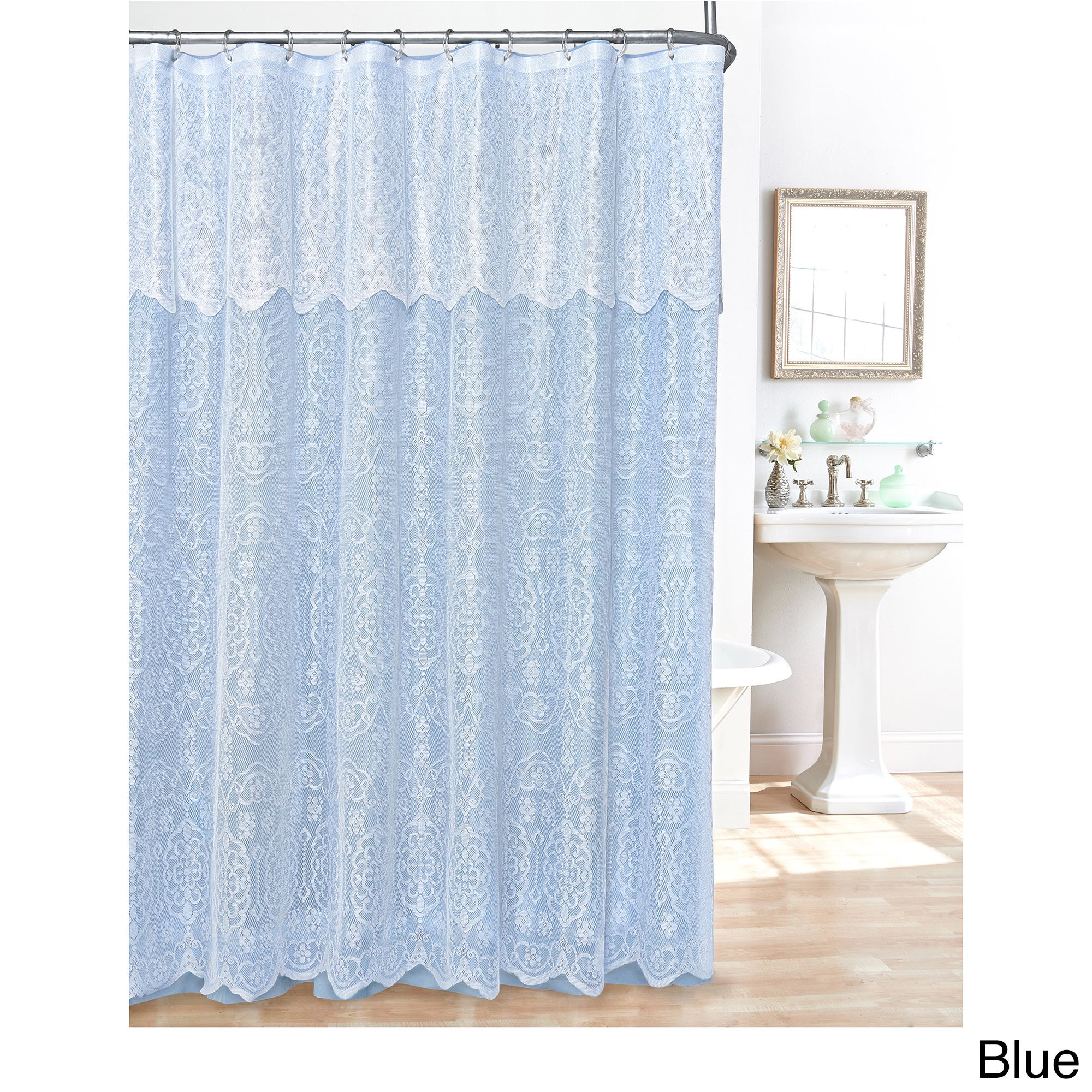 Maison Rouge Lewis Lace Shower Curtain - Free Shipping On Orders ...