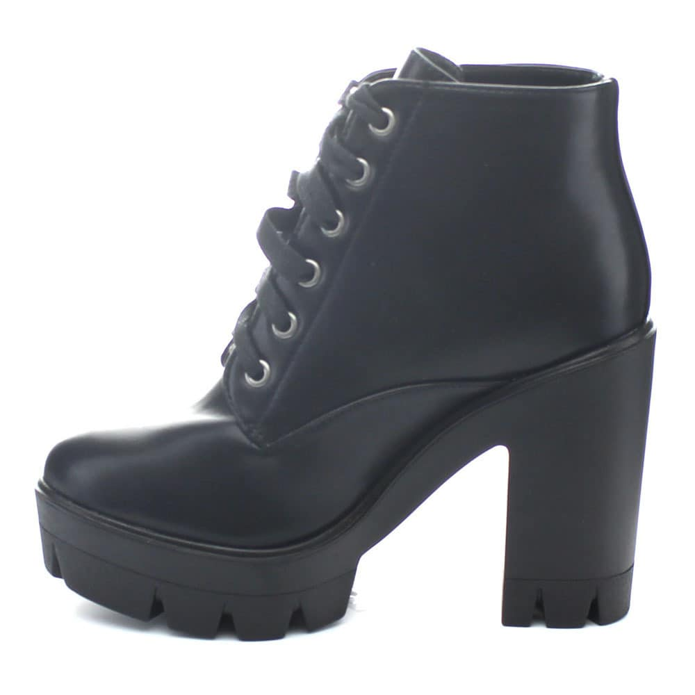 6cb8496aa14b Shop Bamboo Jonas-02 Women Lace Up Chunky Heel Lug Sole Platform Combat  Ankle Booties - Free Shipping On Orders Over  45 - Overstock - 10352452