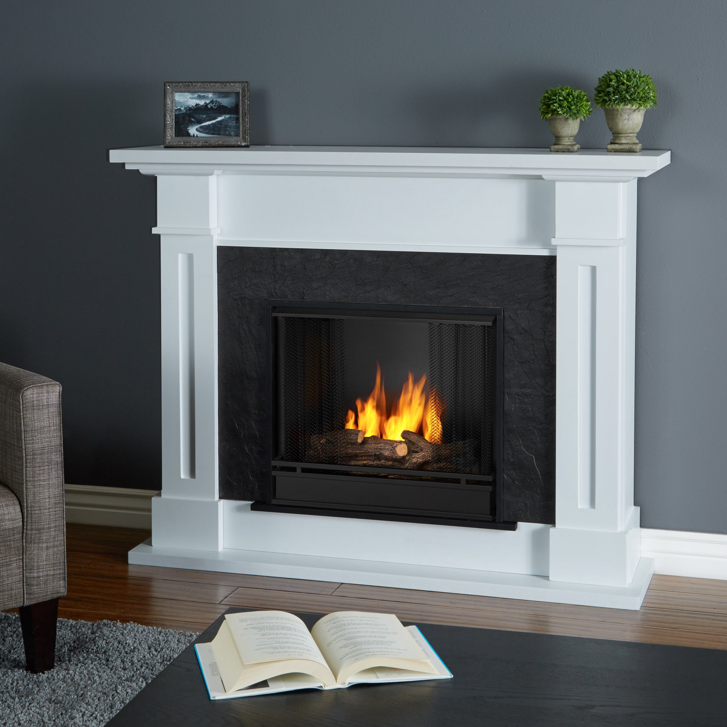 ventless white p zoom stores fireplace flame sku real the hover to fireplaces silverton fuel simple gel