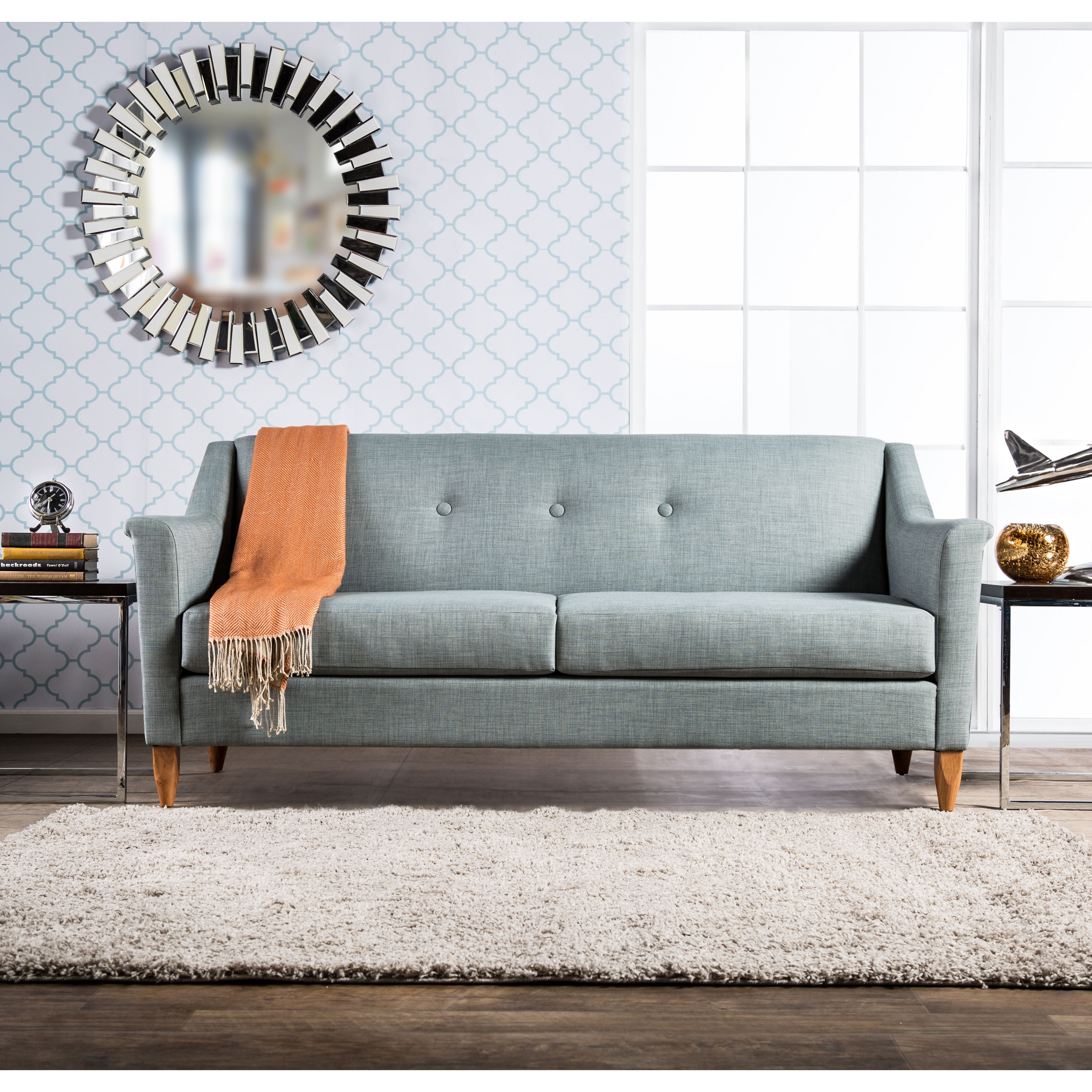 Furniture Of America Winslow Modern Mid Century Tufted Sofa Free Shipping Today 17461966