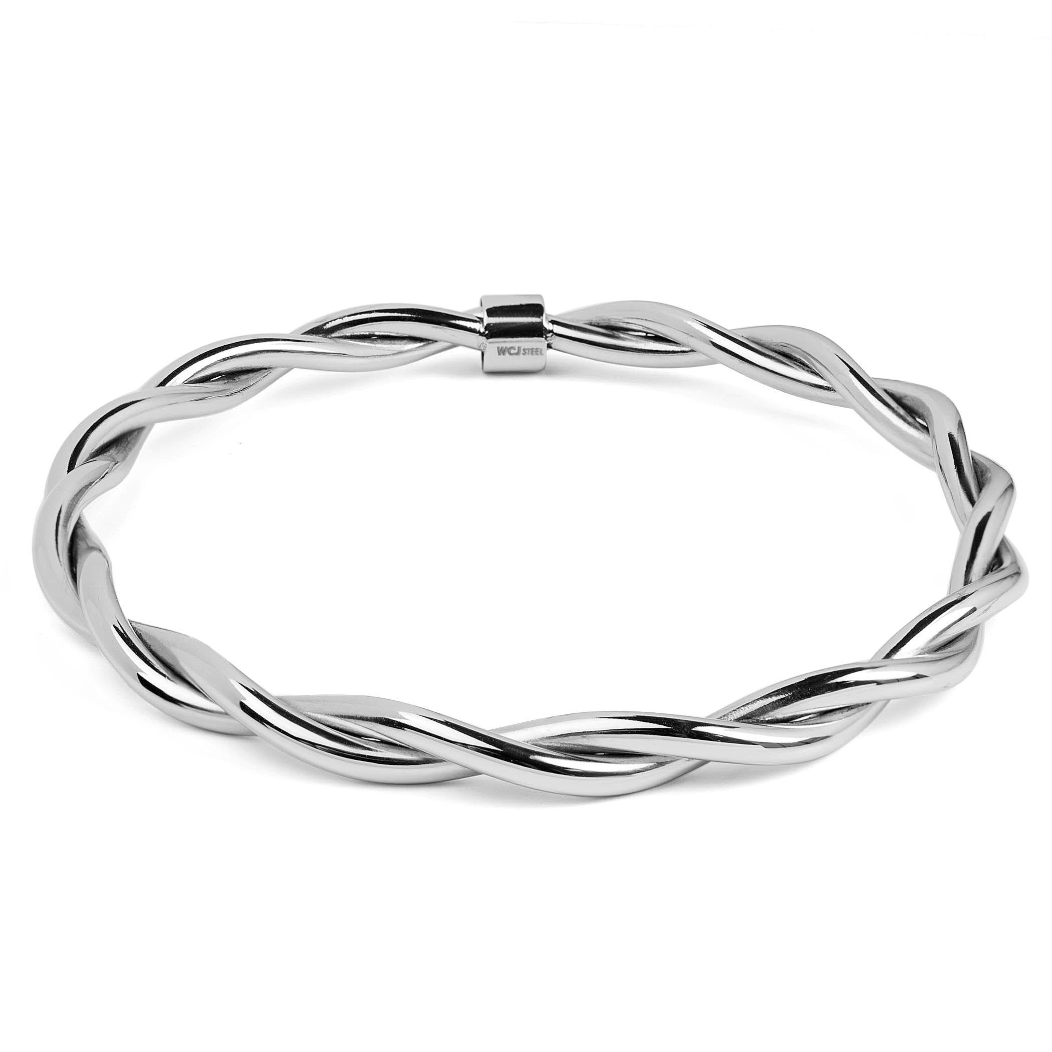 sterling metric white womens mens diamond crystal bangles silver hinged bangle