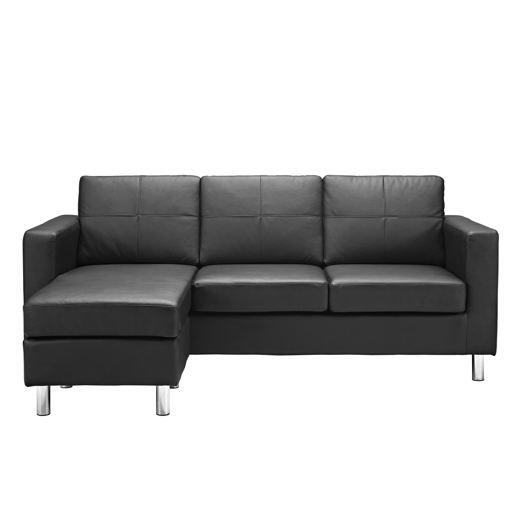 Exceptionnel Shop Dorel Living Small Spaces Black Faux Leather Configurable Sectional  Sofa   Free Shipping Today   Overstock.com   10355256