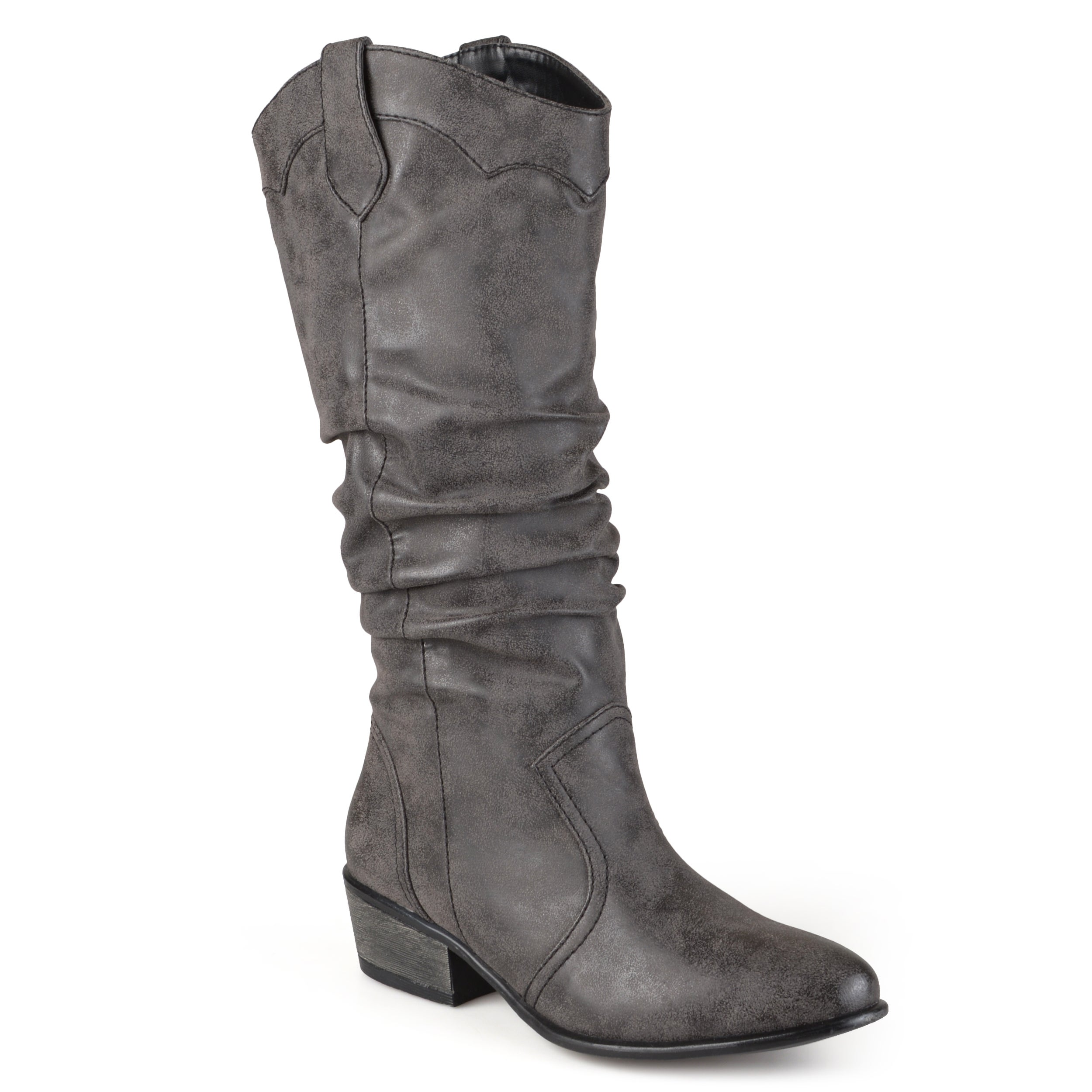 da3389543f3 Journee Collection Women's 'Drover' Regular and Wide-calf Slouch Faux  Leather Riding Boots