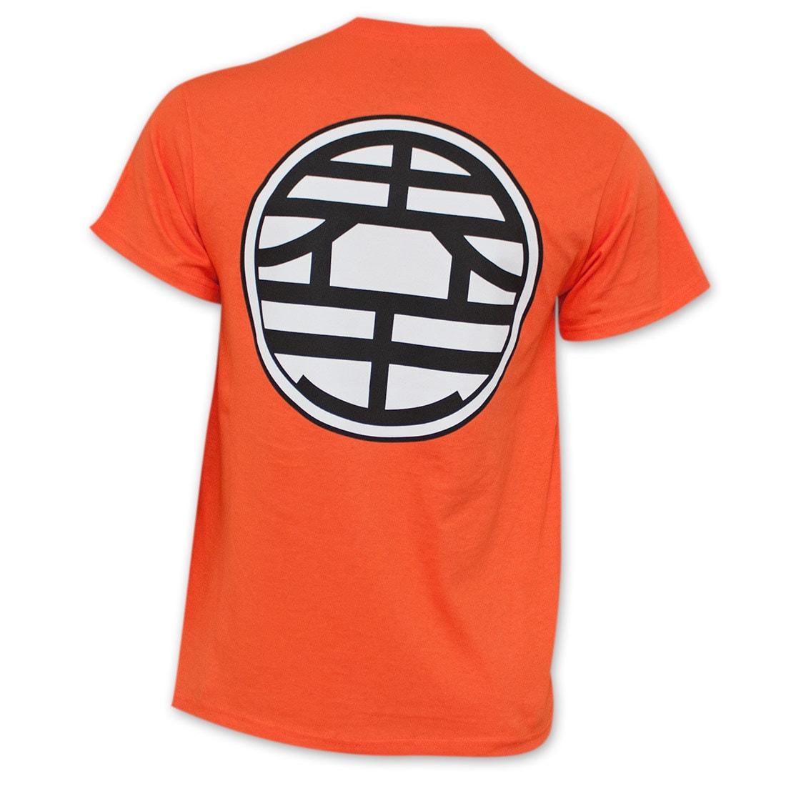 Shop Dragon Ball Z Orange King Kai Goku Symbol Costume T Shirt