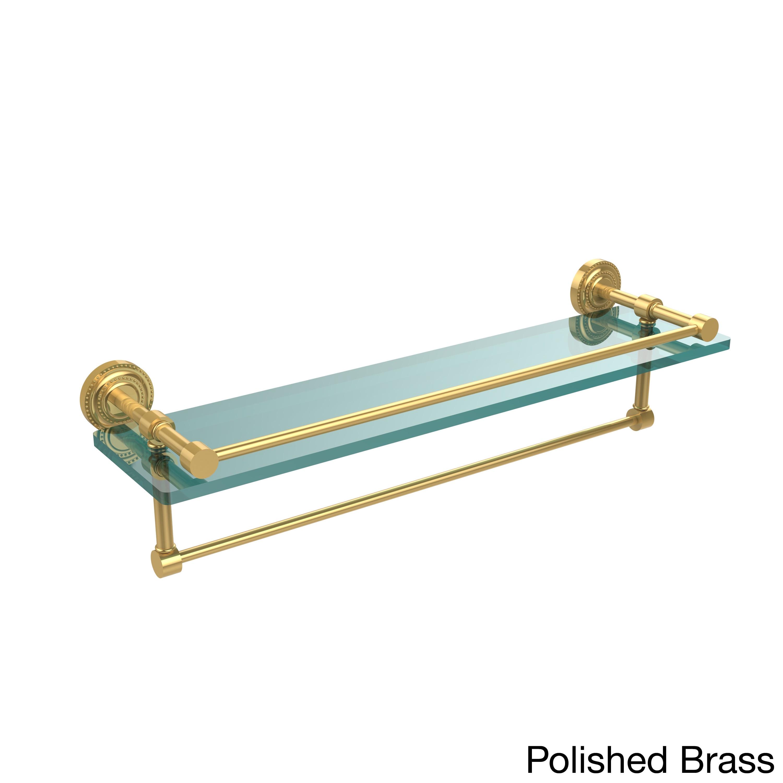 Shop Allied Brass Dottingham 22-inch Gallery Glass Shelf with Towel ...