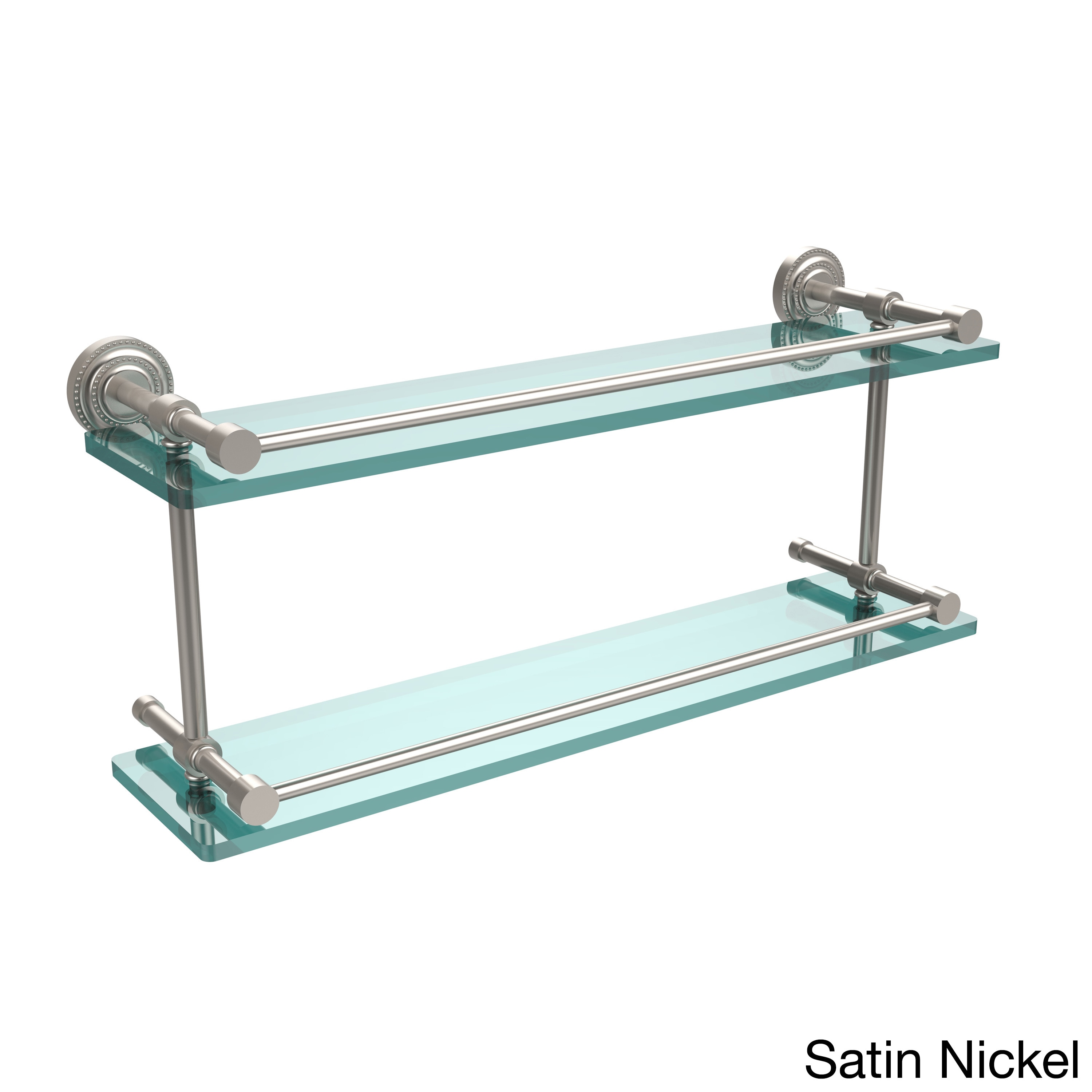 Shop Allied Brass Dottingham 22-inch Double Glass Shelf with Gallery ...