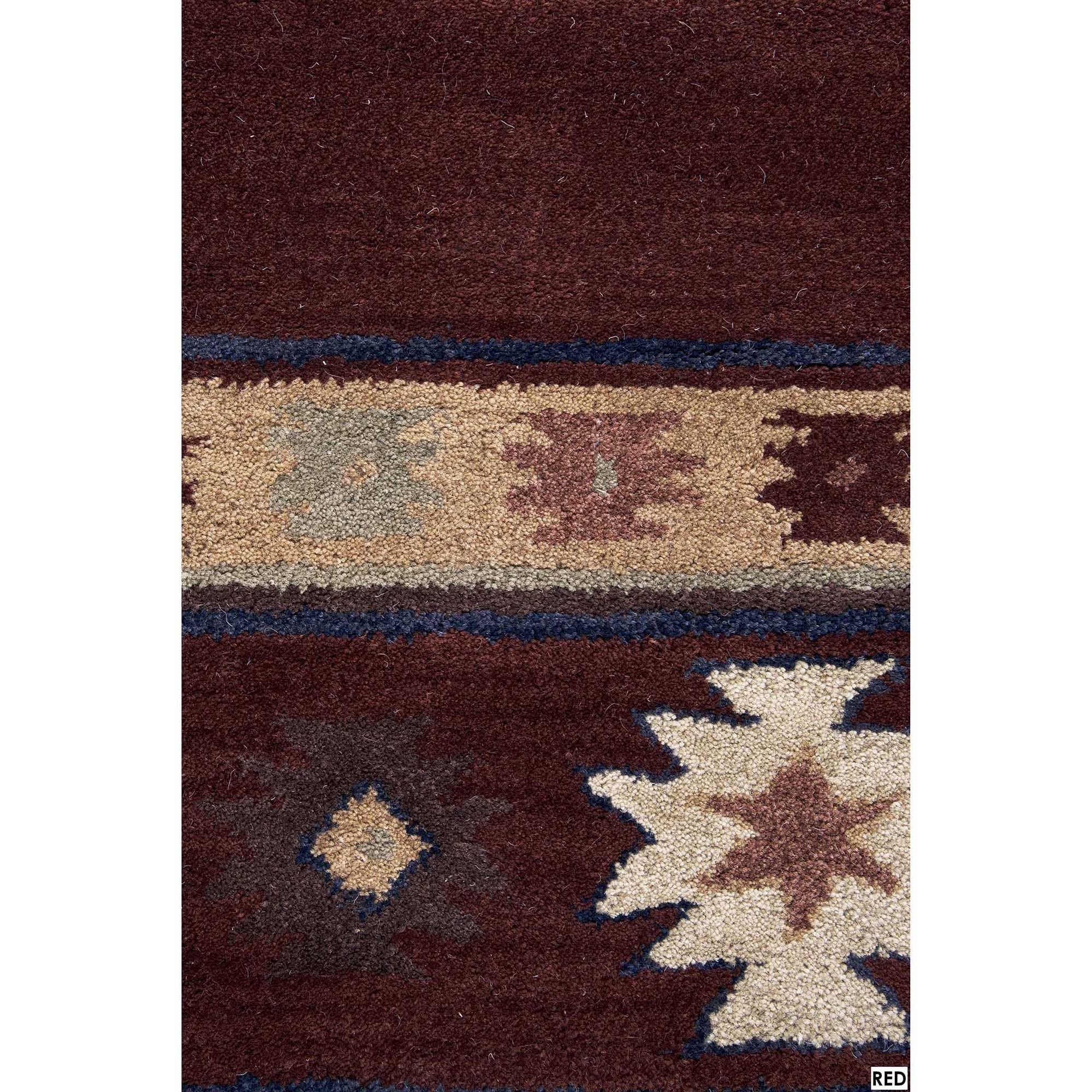 Rug 9 X 12 Free Rizzy Home Southwest Collection Hand Tufted Geometric Wool Red