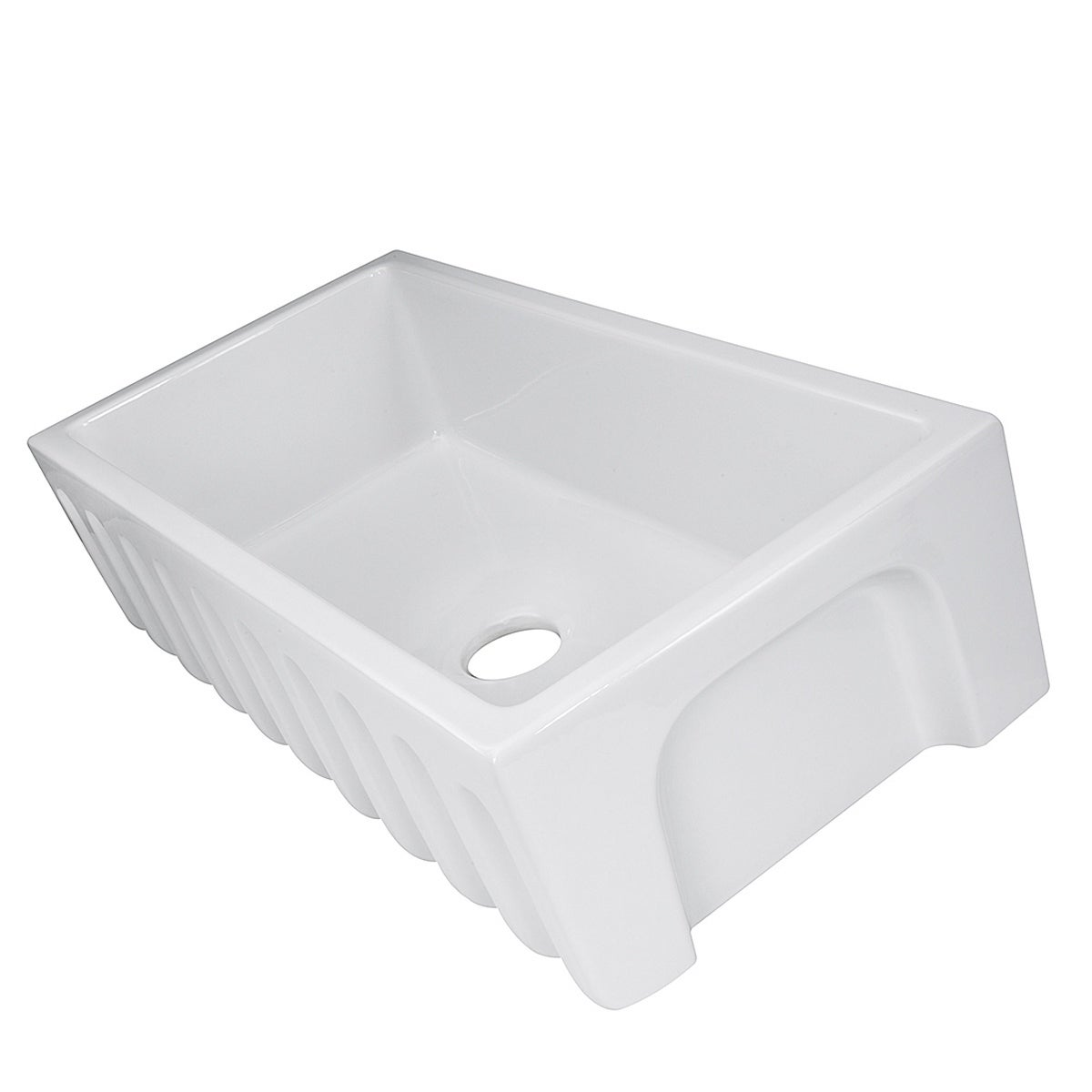 Highpoint Collection White 36 Inch Single Bowl Rectangle Fireclay Farmhouse Kitchen Sink Free Shipping Today 10363453