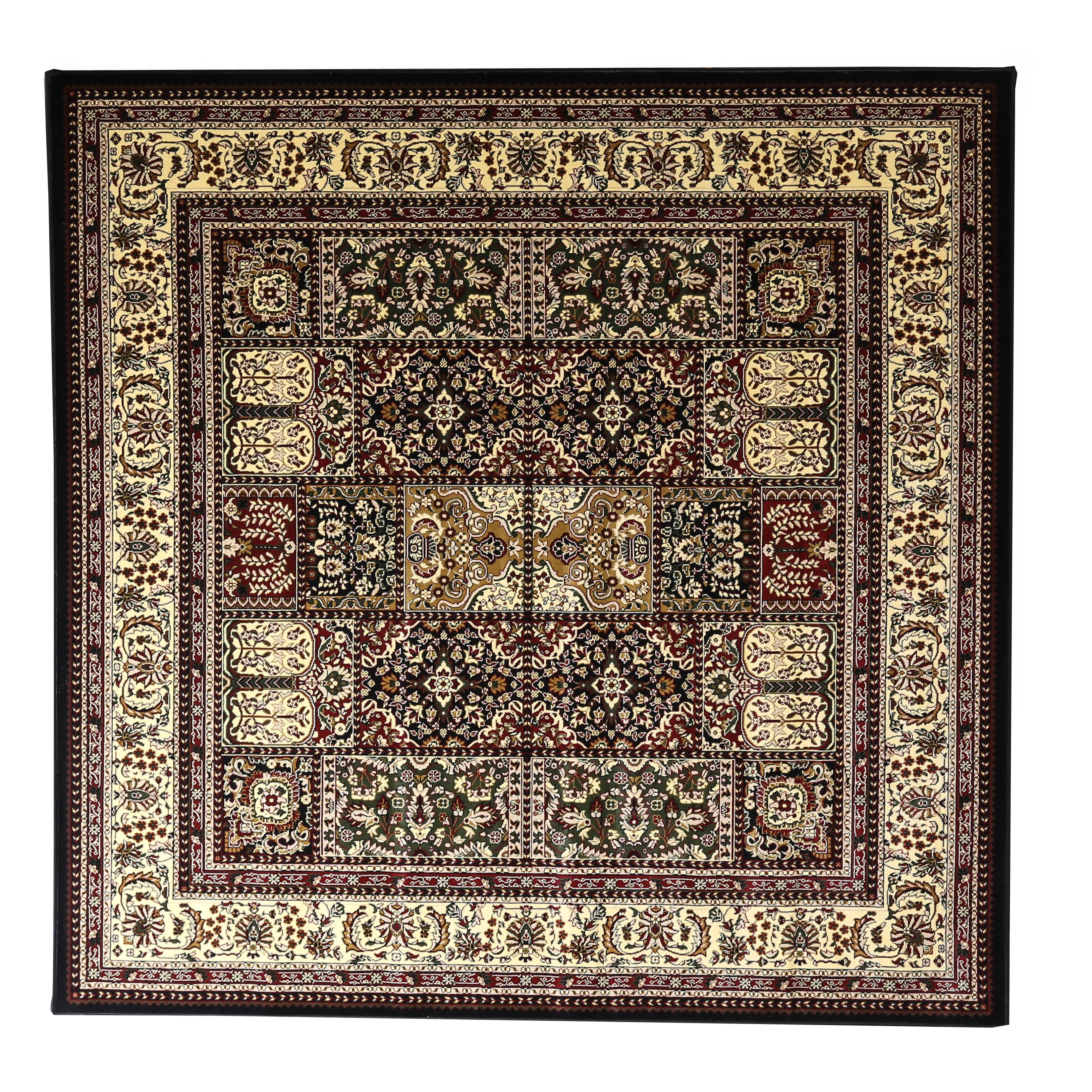 Shop linon persian treasures bakhtiari oriental polypropylene square area rug 8 x 8 8 x 8 on sale free shipping today overstock com 10364191