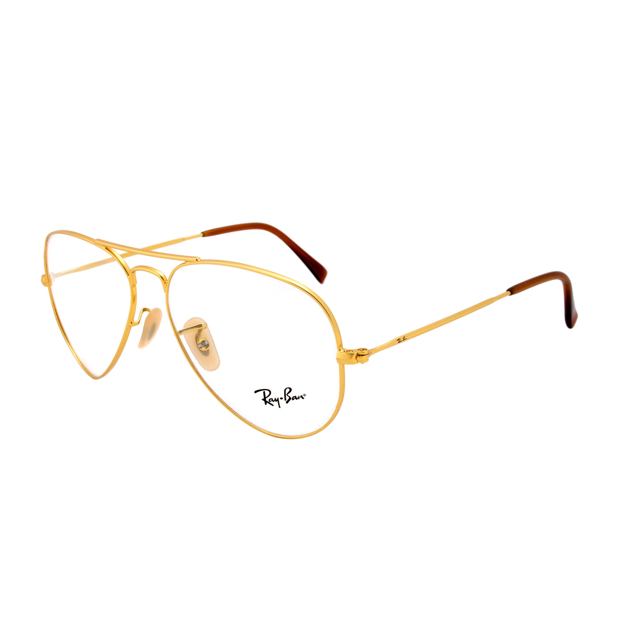 Shop Ray-Ban RX 6049 2730 Aviator Eyeglass Frames, Gold Frame, Size ...