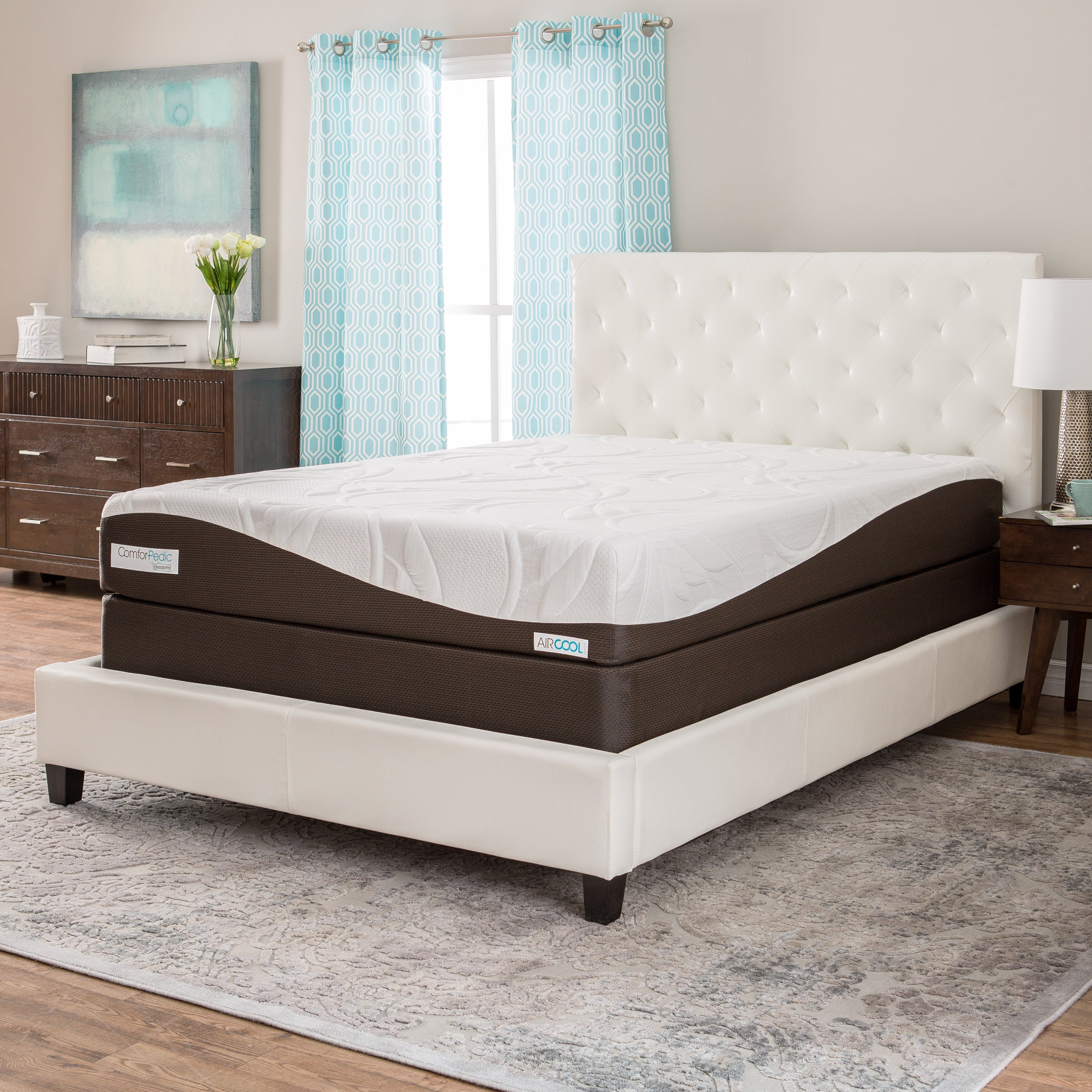 shipping gel king overstock garden memory choose comfort free your today product inch home slumber solutions foam mattress size