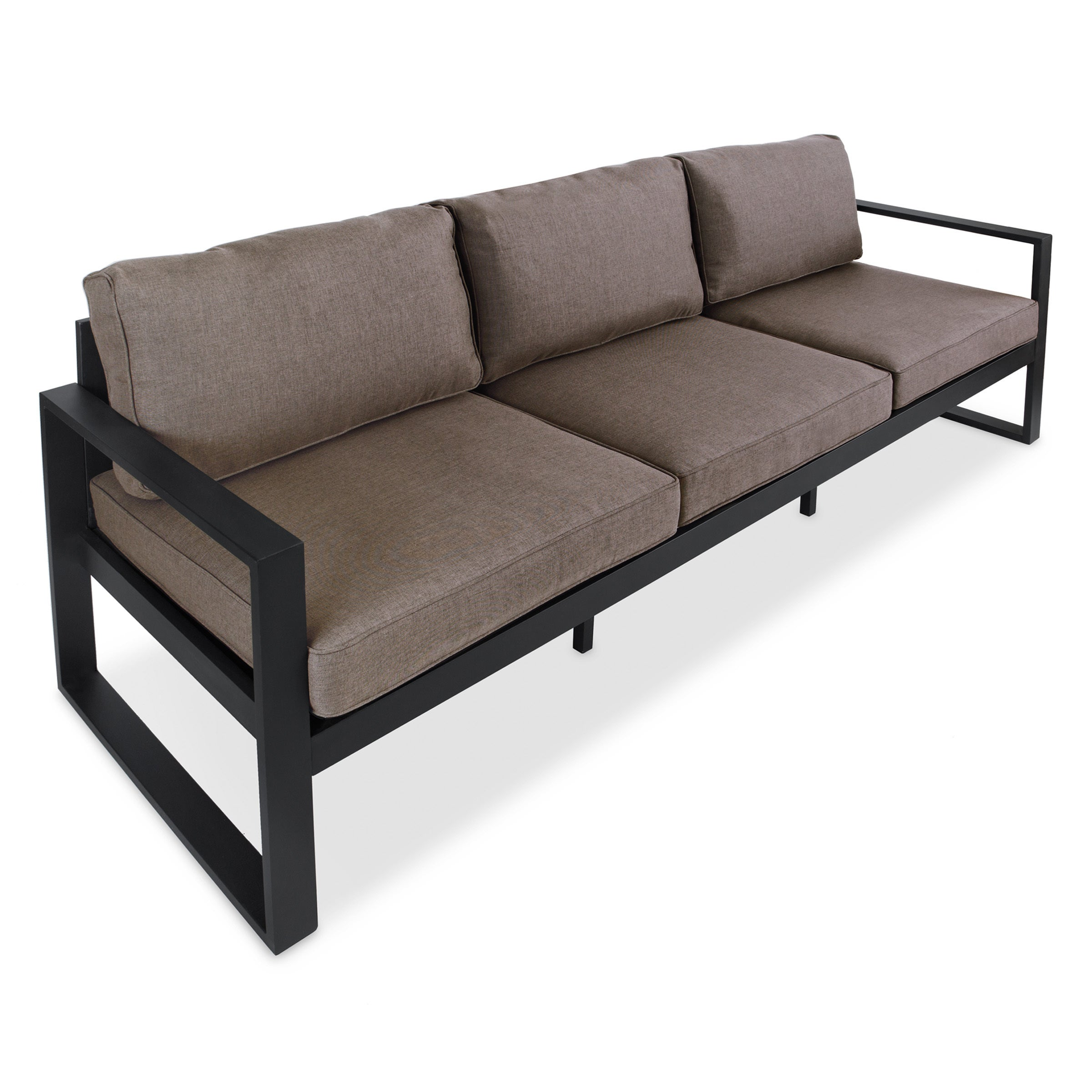 Shop Baltic 3 Seat Sofa Black By Real Flame   Free Shipping Today    Overstock.com   10367026