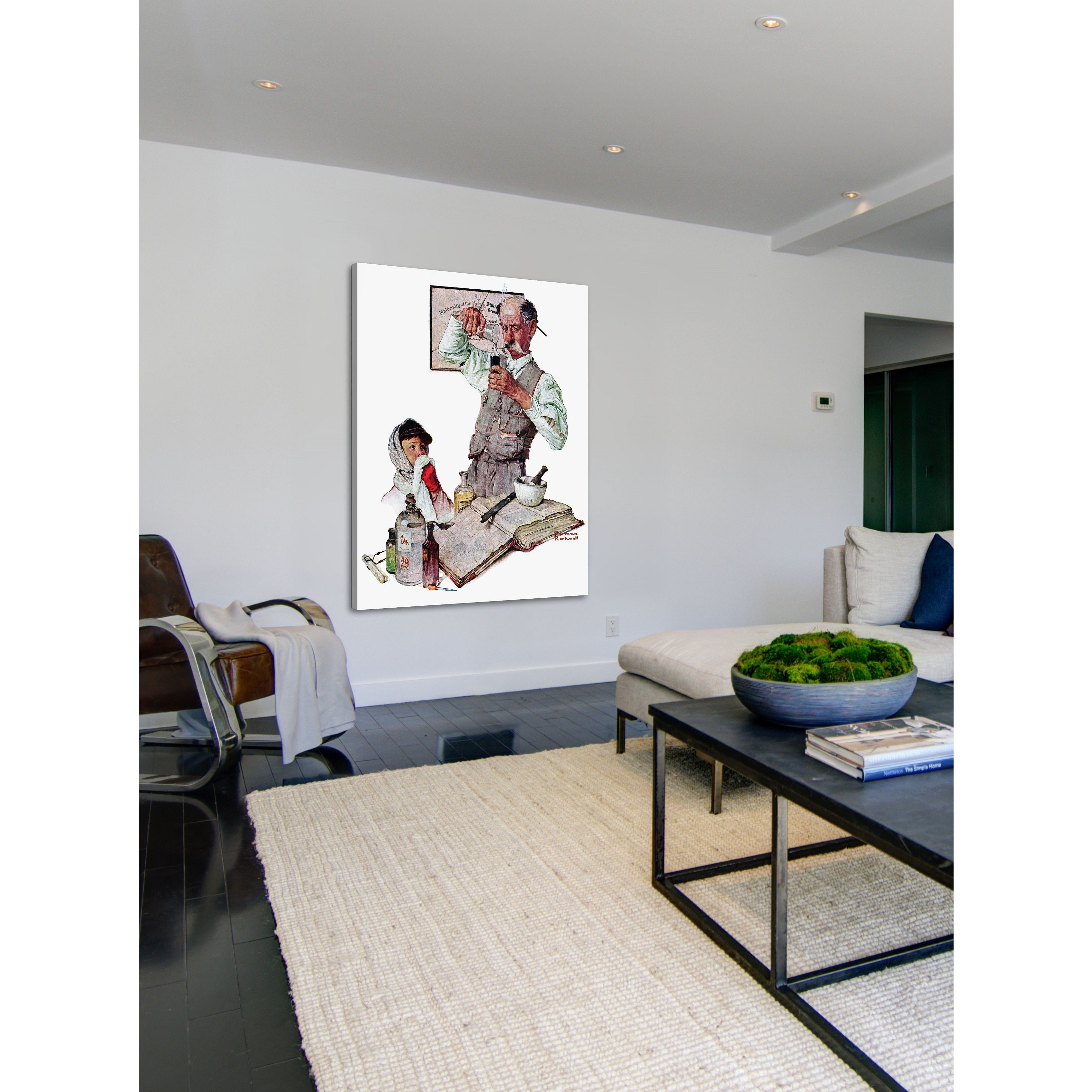 Marmont Hill Pharmacist By Norman Rockwell Painting Print On Canvas Multi Color Free Shipping Today 10367278