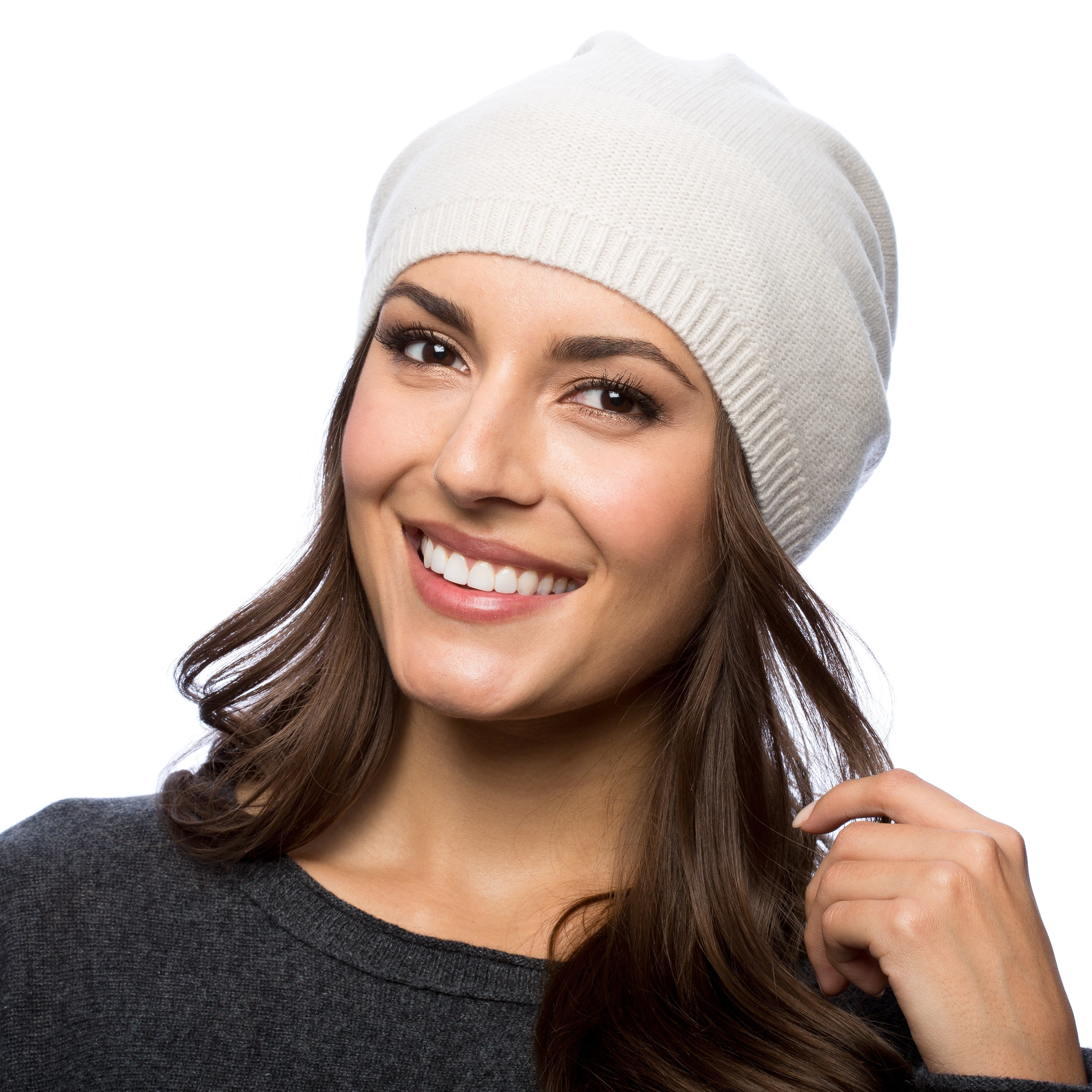 27d727c2bb3 Shop Portolano Cashmere Slouchy Hat - Ships To Canada - Overstock - 10367800