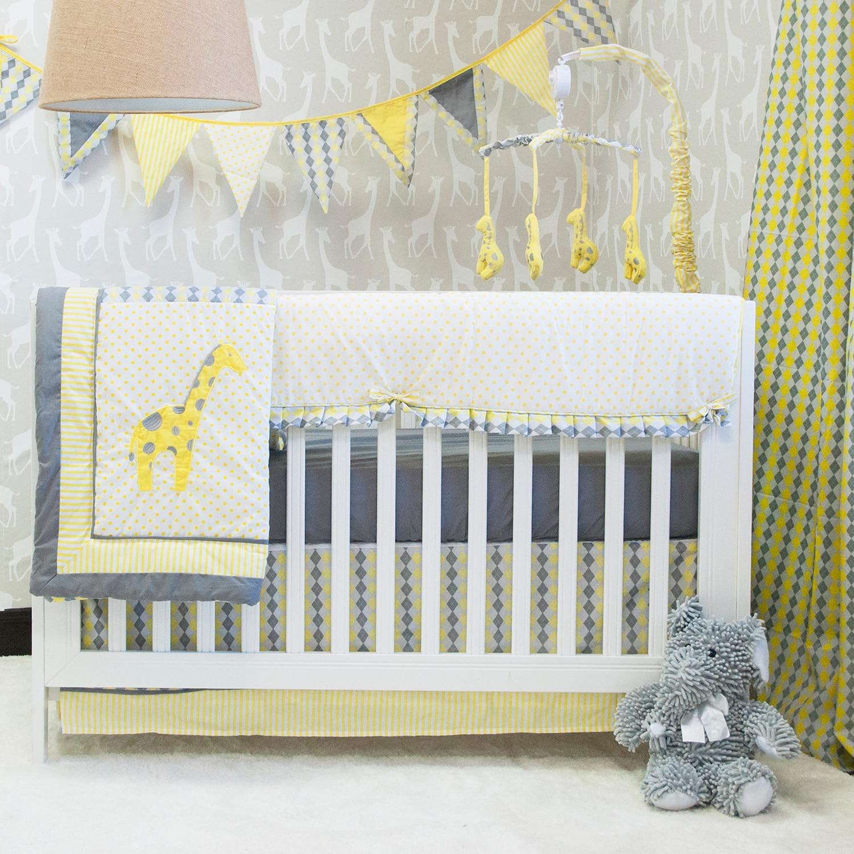 Pam Grace Creations Argyle Giraffe Crib Bedding Set Free Shipping Today 10367885