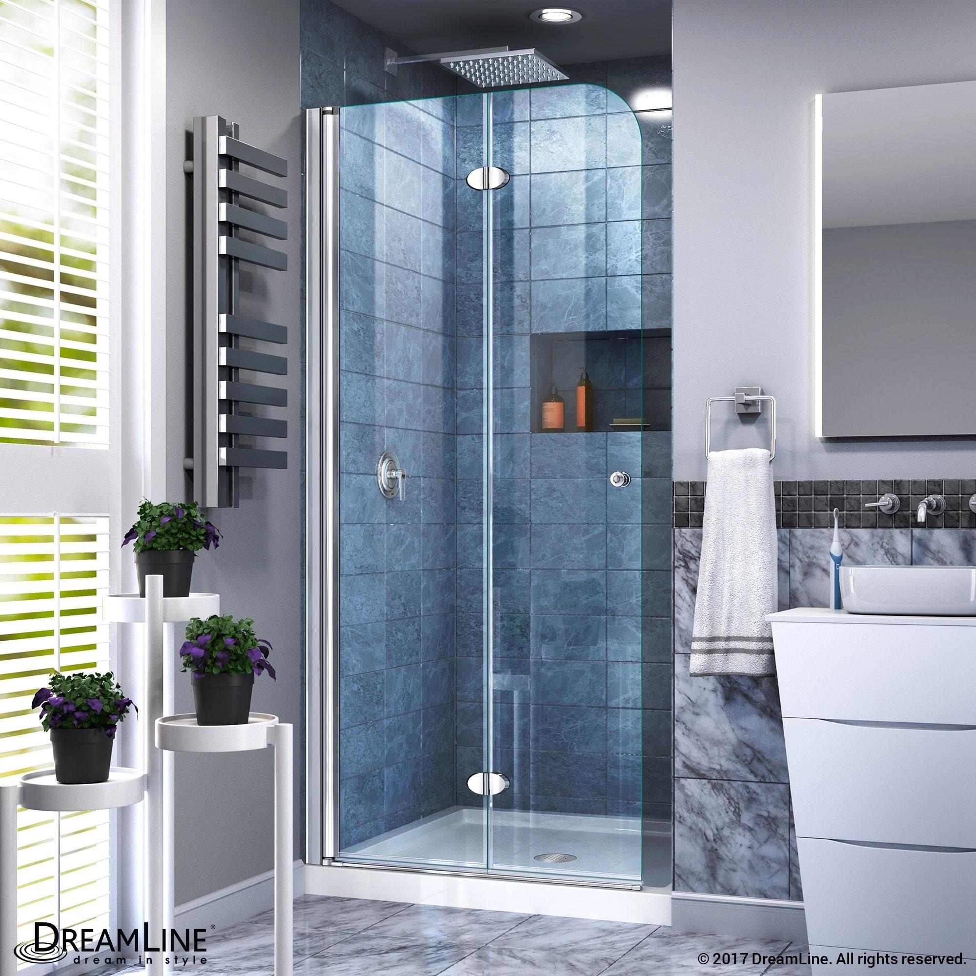 Shop Dreamline Aqua Fold Shower Door 335 In W X 72 In H Clear