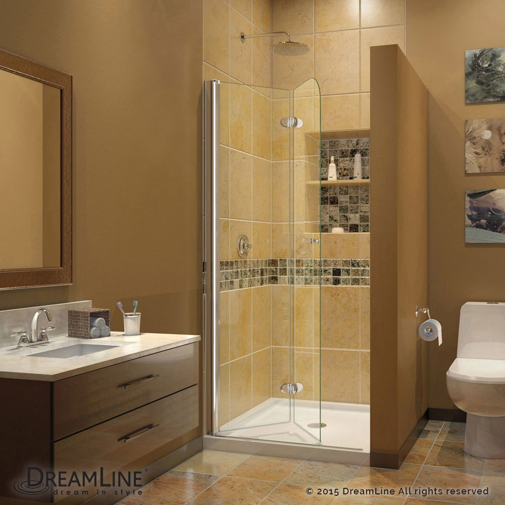 Shop Dreamline Aqua Fold Shower Door 335 In W X 72 In H Clear