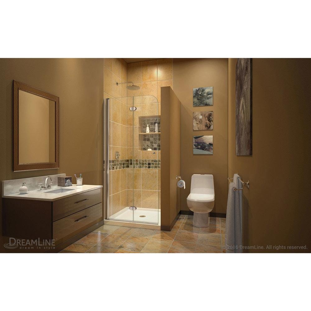 Shop DreamLine Aqua Fold Shower Door 33.5 in. W x 72 in. H Clear ...