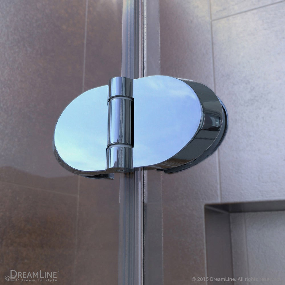 Shop DreamLine Aqua Fold Shower Door 33.5 in. W x 72 in. H Clear ...