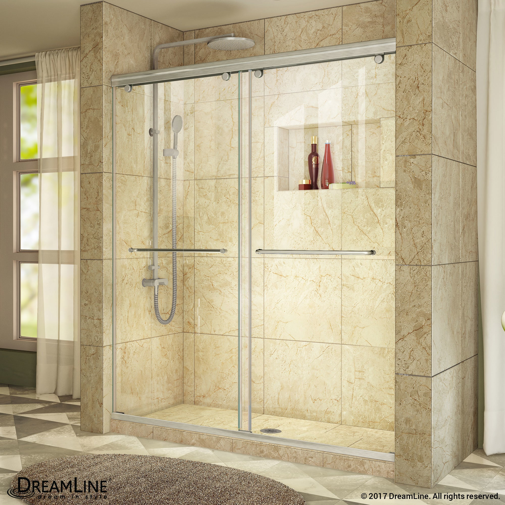 Shop Dreamline Charisma Sliding Shower Door 56 60 In W X 76 In H