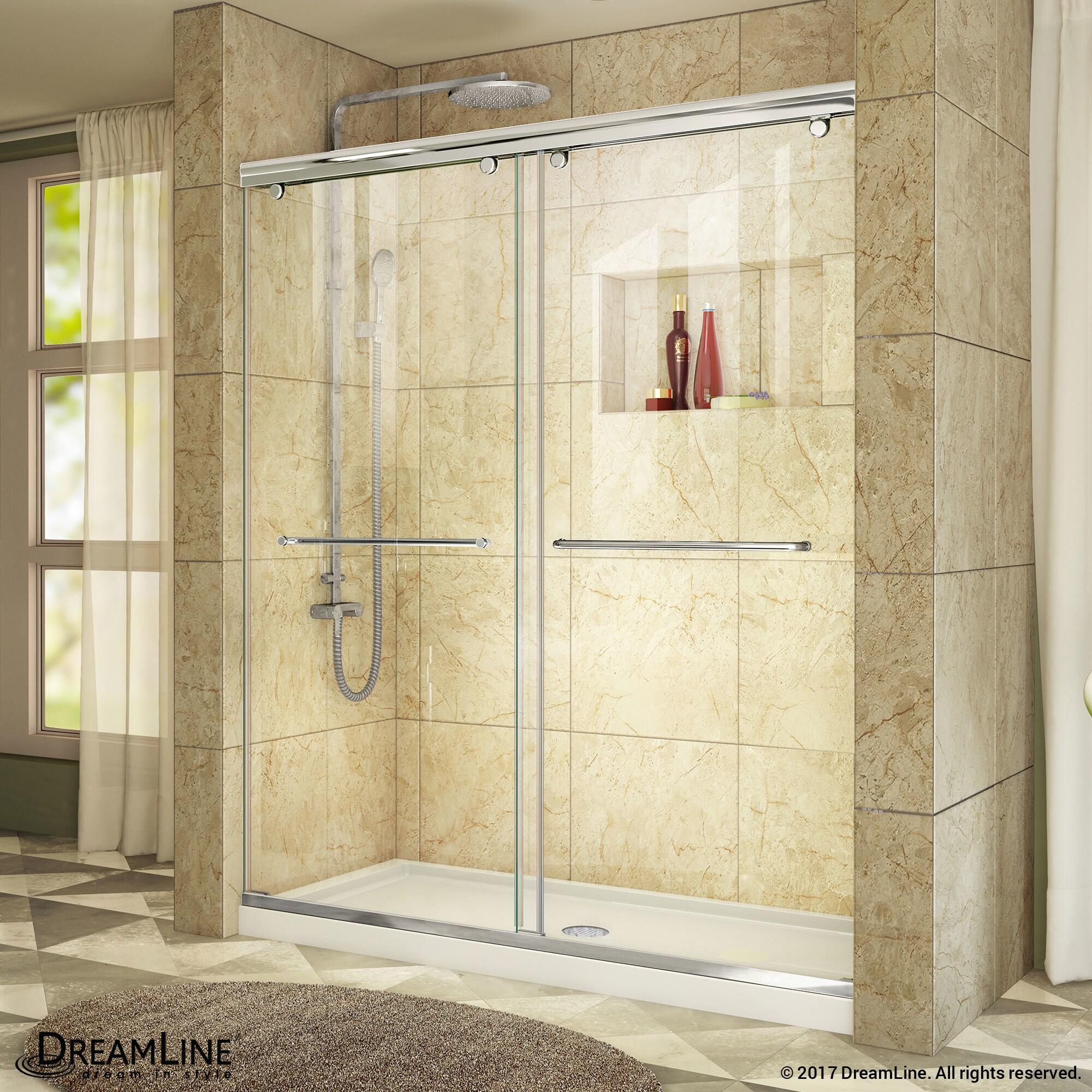 Shop Dreamline Charisma Sliding Shower Door 56 60 In W X 76 In H