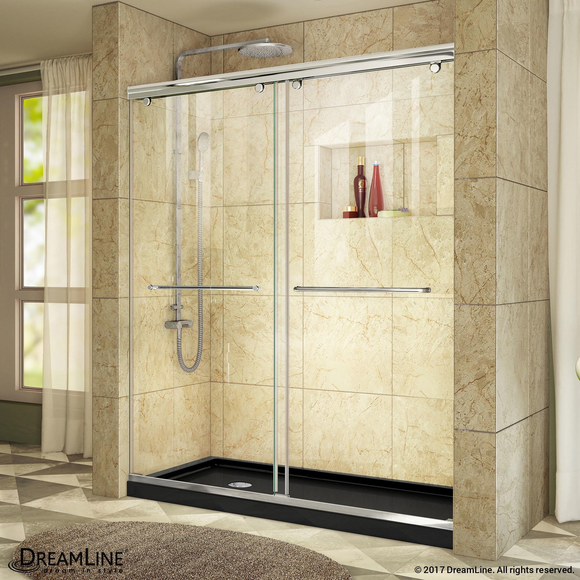 Shop DreamLine Charisma Sliding Shower Door 56 - 60 in. W x 76 in. H ...