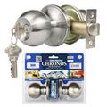 Chronos Entry Stainless Steel Finish Door Lever Lock Set Knob Handle Set