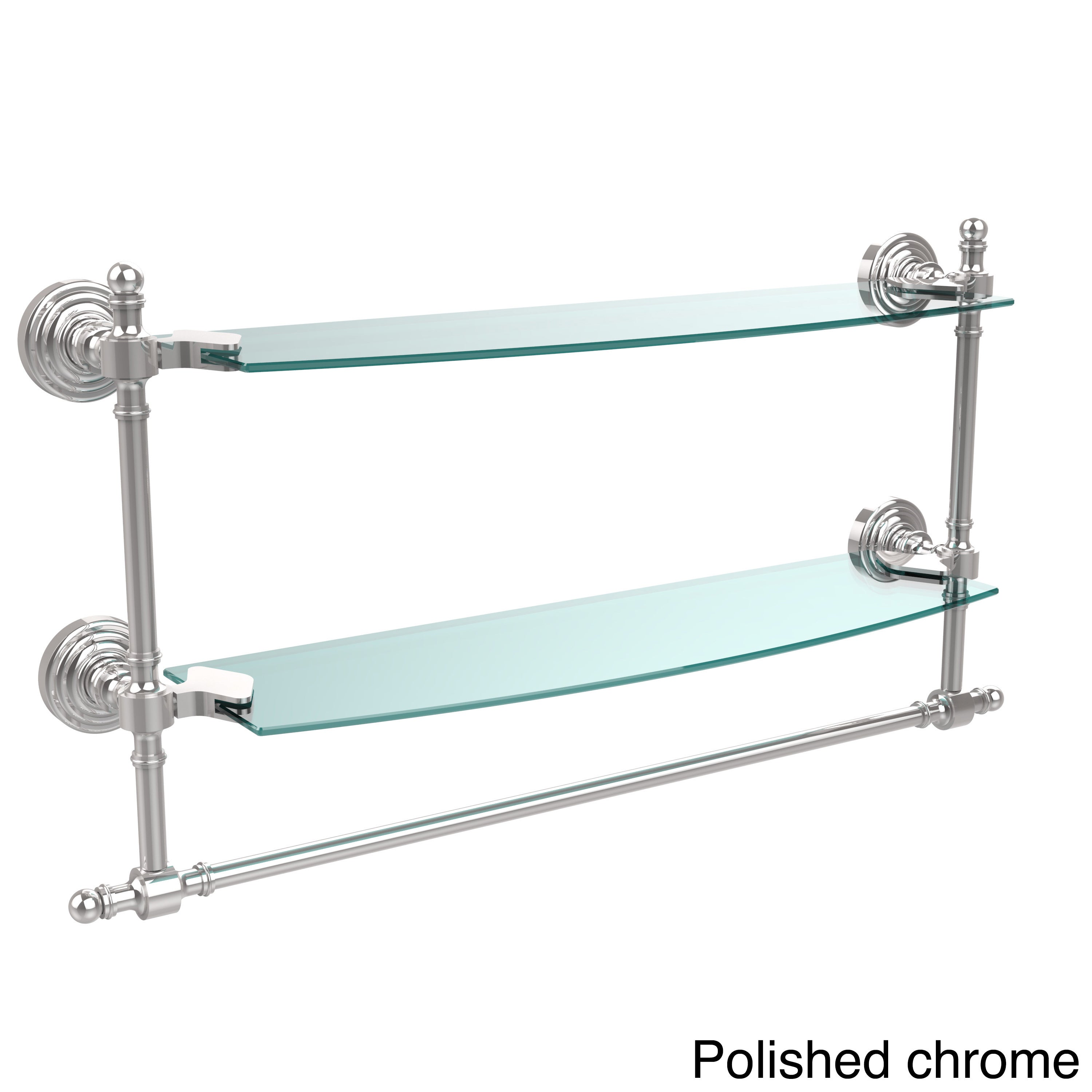 Shop Retro Wave Collection 18-inch Two Tiered Glass Shelf with ...