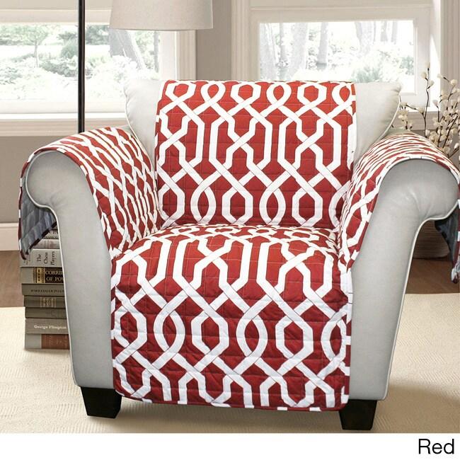 Lush Decor Edward Trellis Armchair Furniture Protector/Slipcover ...