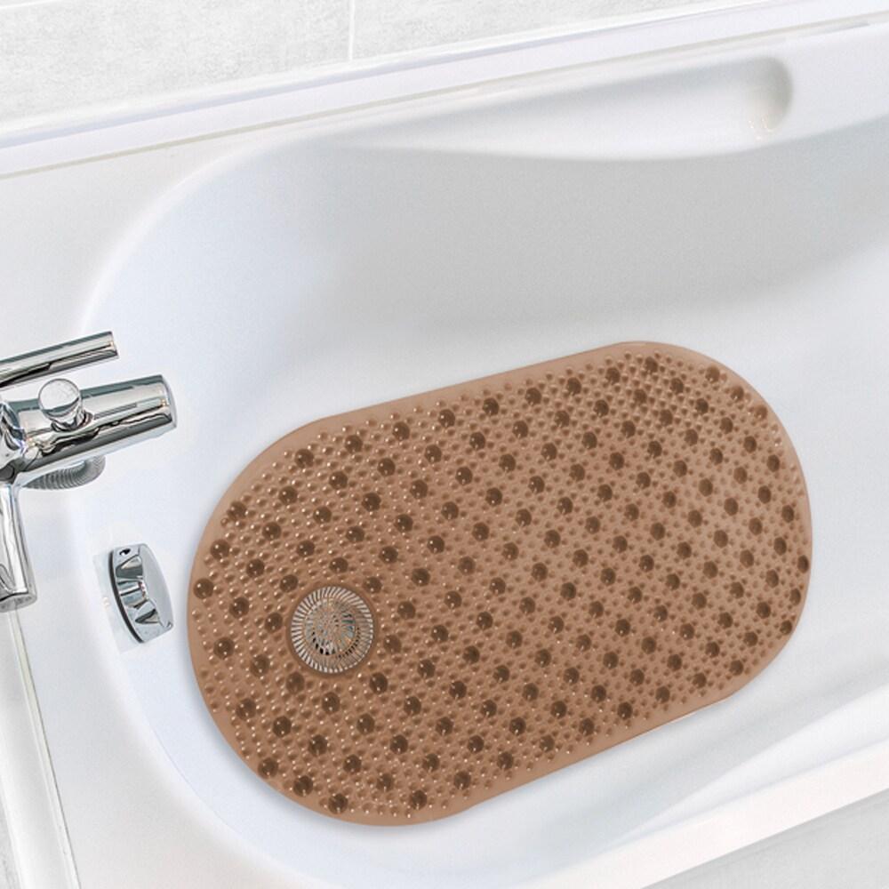 Shop Antimicrobial Hair Catcher Bath Tub Mat - On Sale - Free ...