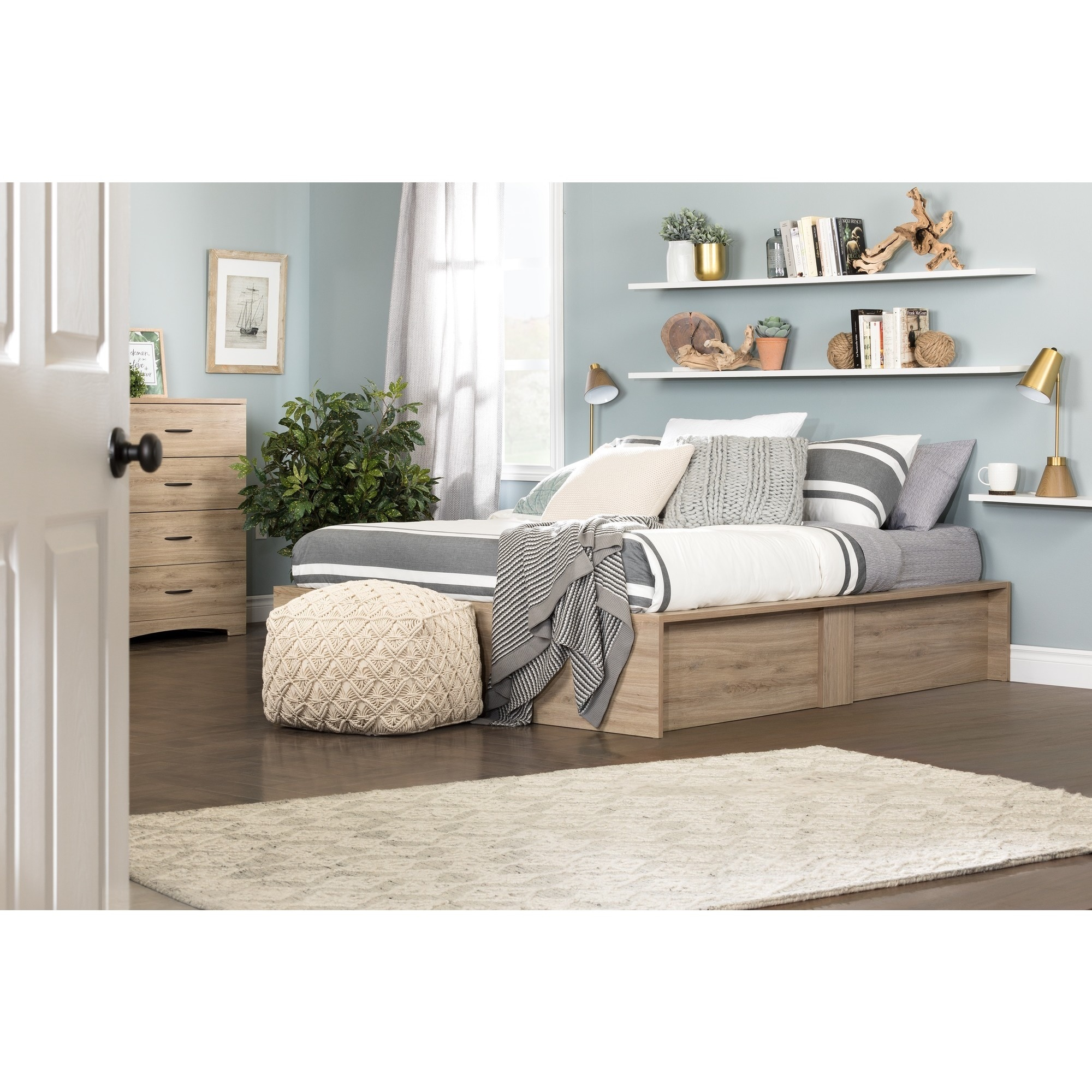 South Shore Step e Ottoman Queen Storage Bed Free Shipping Today