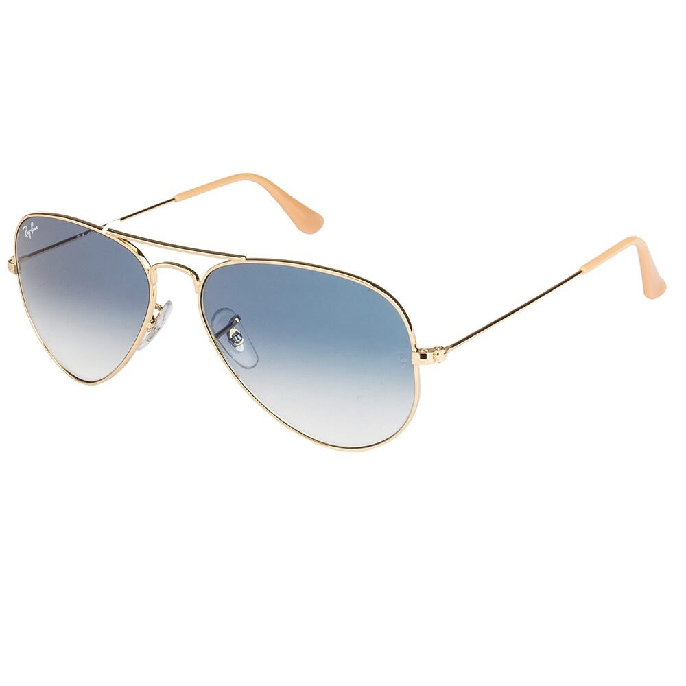d1d548c45a001 Shop Ray-Ban Aviator RB 3025 Unisex Gold Frame Light Blue Gradient Lens  Sunglasses - Free Shipping Today - Overstock - 10373781