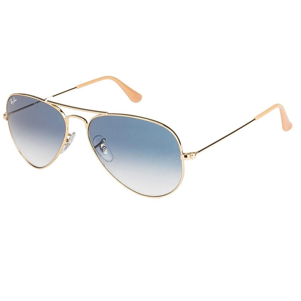 67566e88ded ... cheapest shop ray ban aviator rb 3025 unisex gold frame light blue gradient  lens sunglasses gold