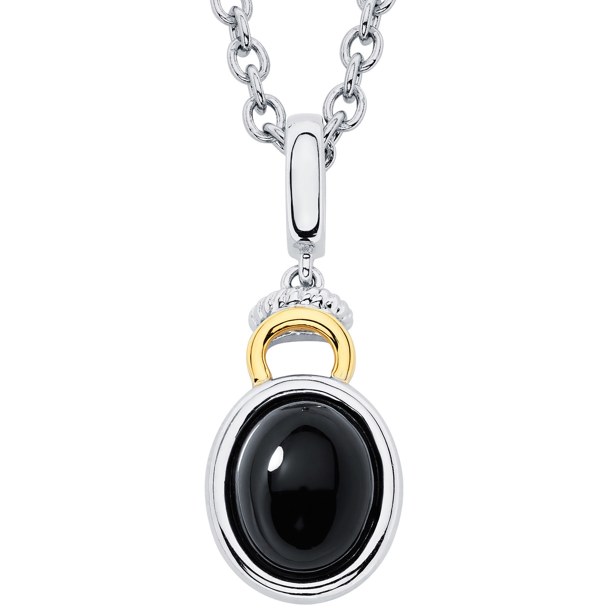 jewelry necklace pendant nanostyle you languages products love round i inscribed bk in onyx on rd gold