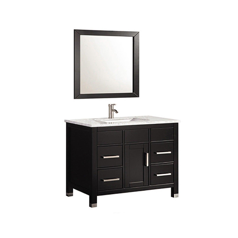 MTD Vanities Ricca 36-inch Single Sink Bathroom Vanity Set with ...