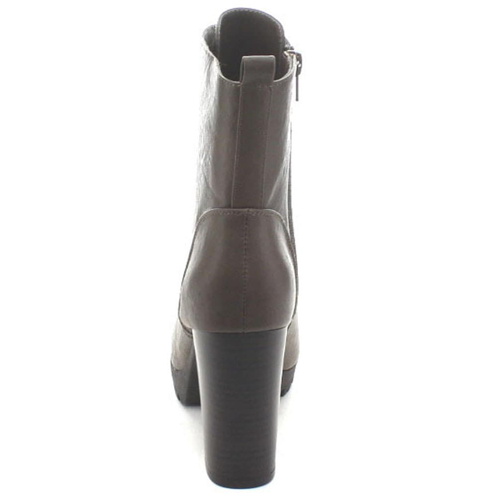 51811510a23d Shop Wild Diva Kimber-06 Women s Side Zip Lug Sole Stacked Mid Calf Combat  Boots - Free Shipping On Orders Over  45 - Overstock - 10379615