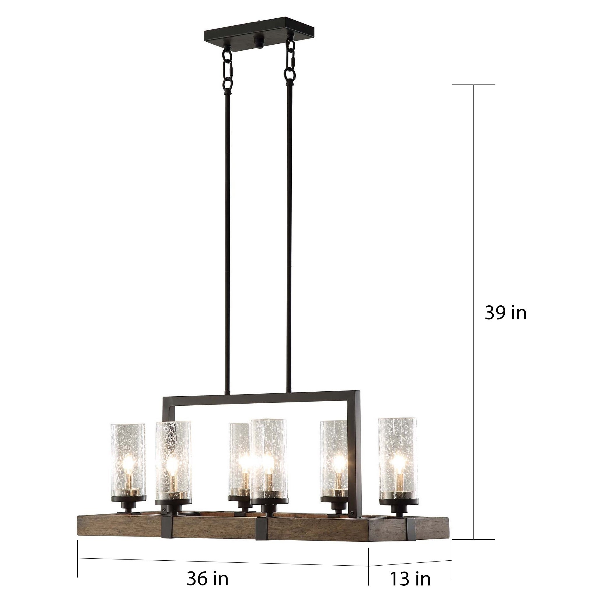 Shop The Gray Barn Vineyard Metal And Wood 6 Light Chandelier With Ceiling Lights No Wiring Related Keywords Suggestions Seeded Glass Shades Free Shipping Today 10379621