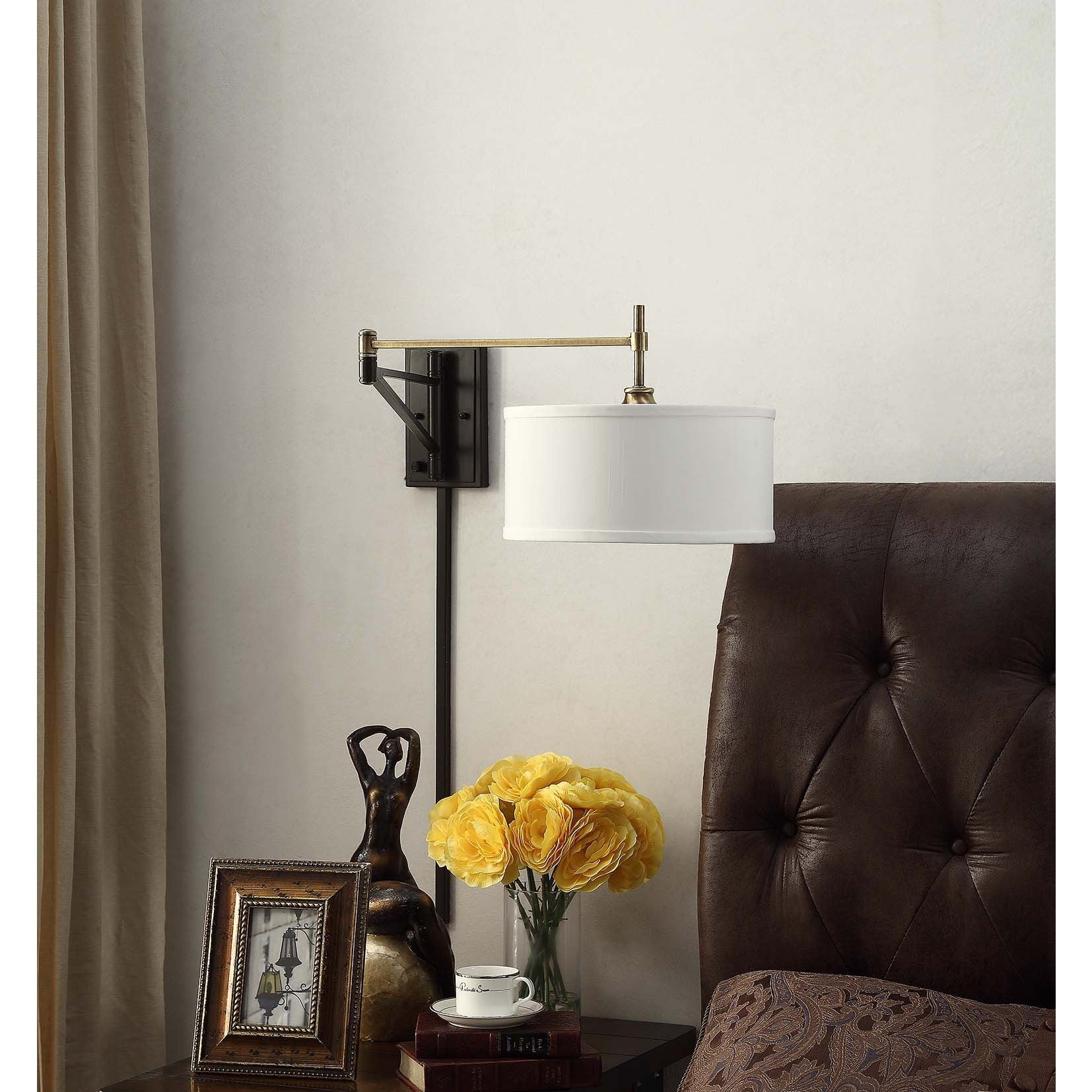 Shop I Love Living Antique Brass and Bronze Swing Arm Wall Sconce ...