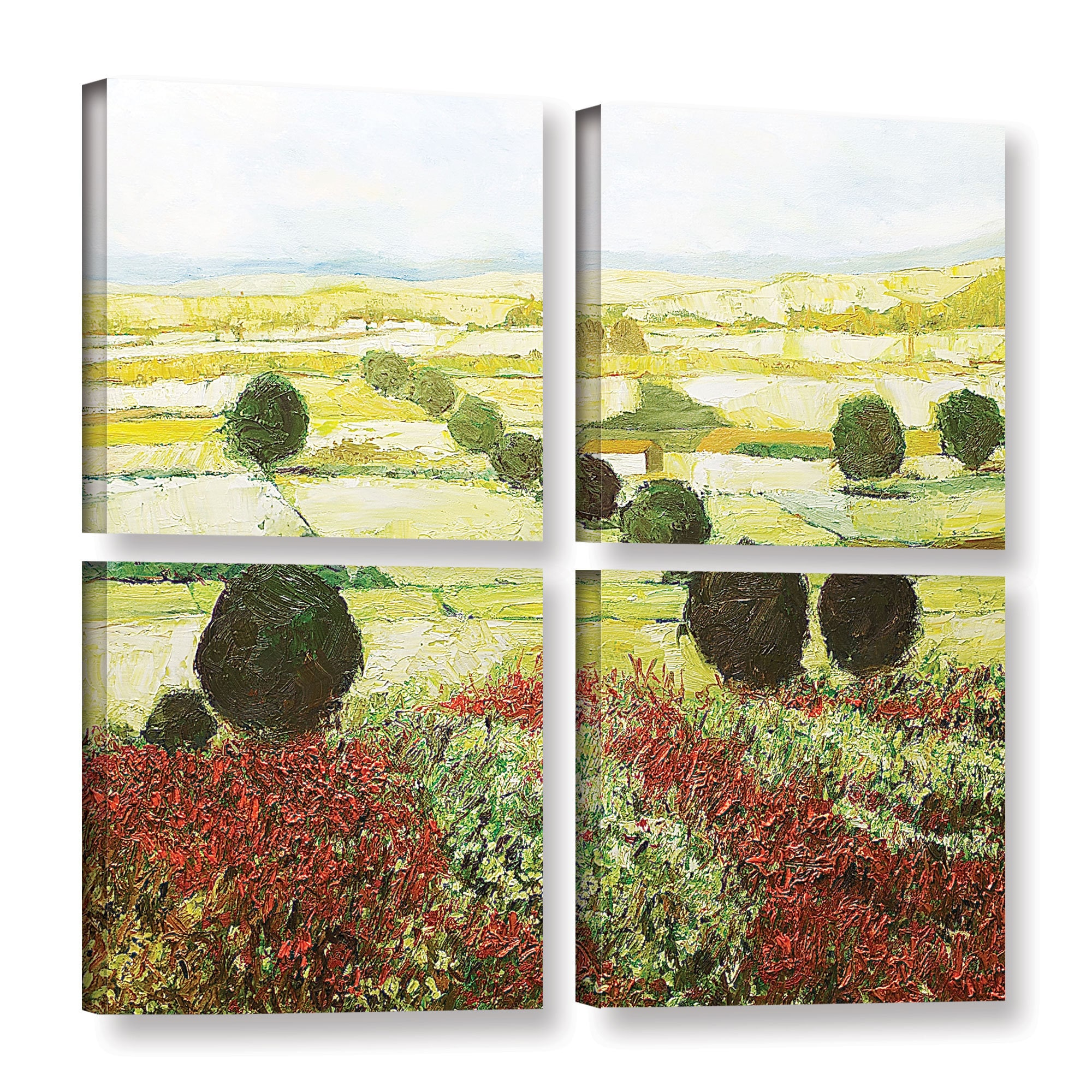 ArtWall Allan Friedlander \'Wildflower Valley\' 4 Piece Gallery ...