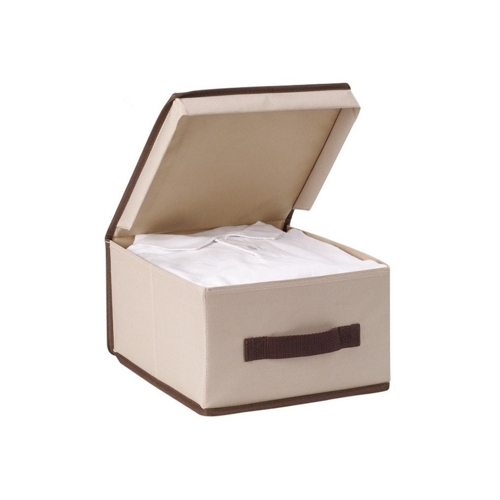 Ordinaire Shop StorageManiac Foldable Polyester Canvas Storage Box With Lid (Pack Of  2)   On Sale   Free Shipping On Orders Over $45   Overstock.com   10380356