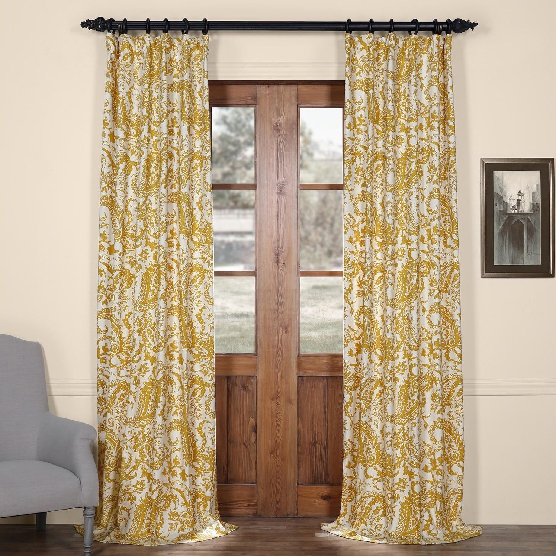 Exclusive Fabrics Edina Printed Cotton Curtain Panel - Free Shipping Today  - Overstock.com - 17491827