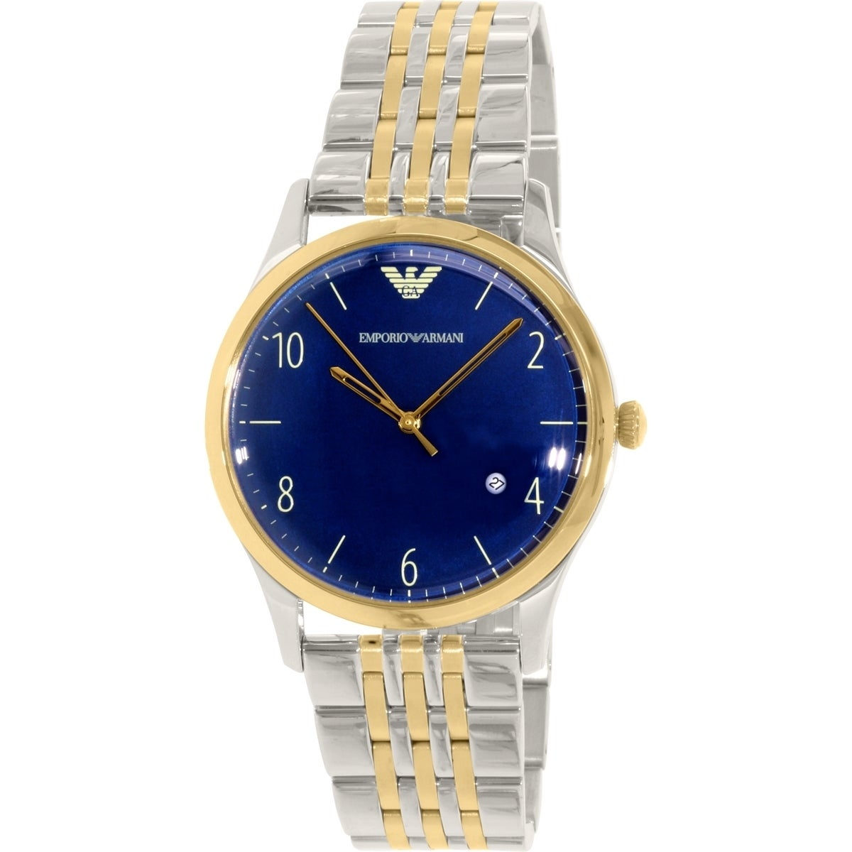 e238eeb7837 Shop Emporio Armani Men s AR1868  Classic  Two-Tone Stainless Steel Watch -  Free Shipping Today - Overstock - 10389535