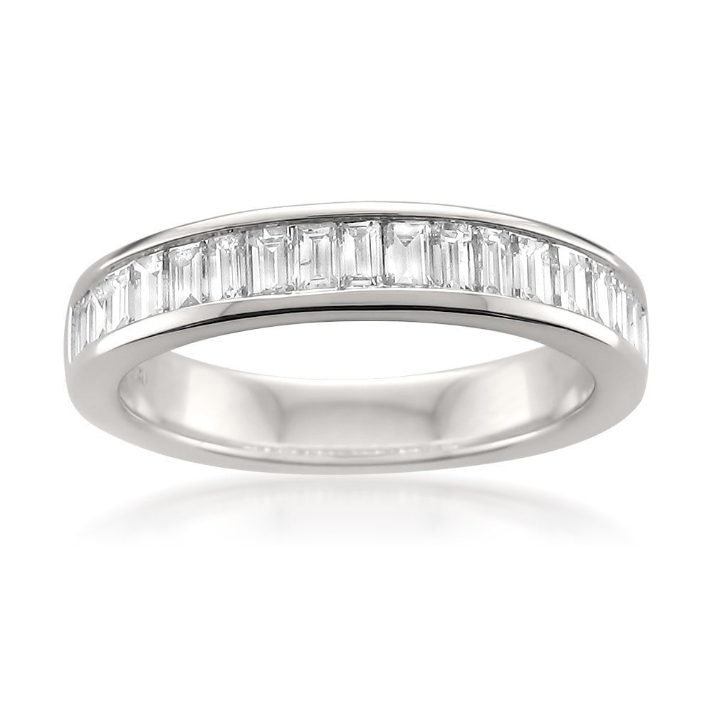 Montebello 14k White Gold 1ct Tdw Baguette Cut Diamond Wedding Band Free Shipping Today 10389936