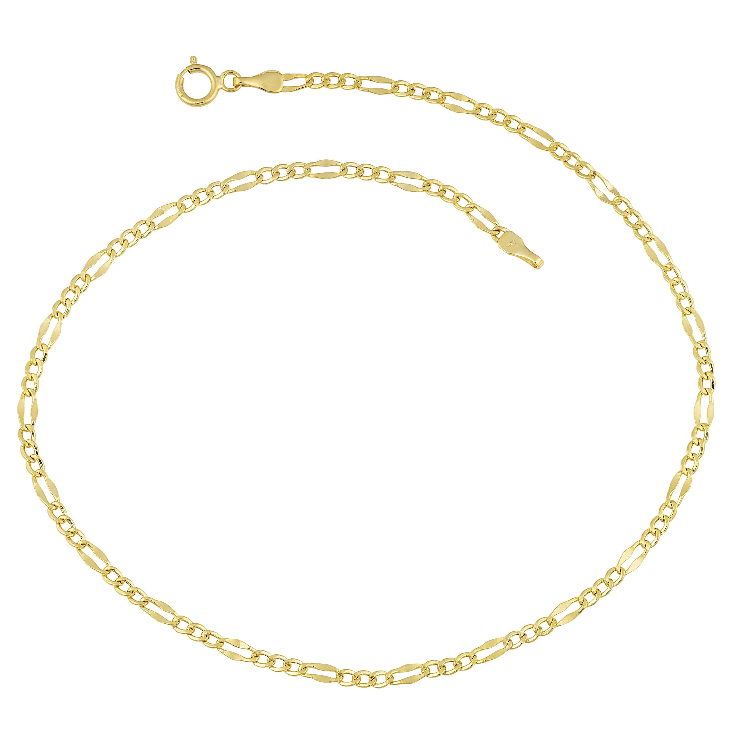 braided gold chain karat brfox bracelet anklet category elle by anklets jewels fox archives product ankle