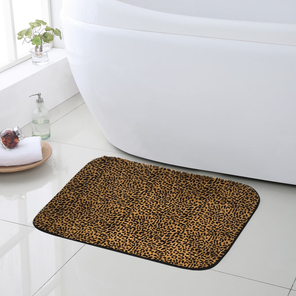 Shop Exotic Leopard Print Quick Dry Memory Foam Bathroom Rug 20 ...