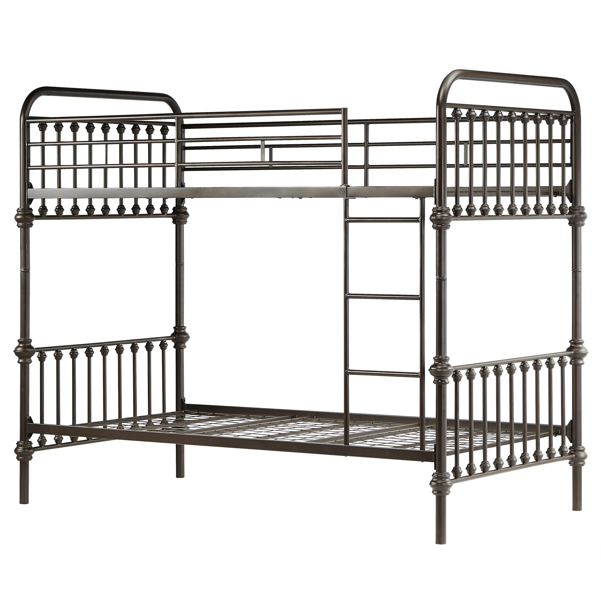 Shop Giselle Antique Dark Bronze Graceful Lines Iron Metal Bunk Bed