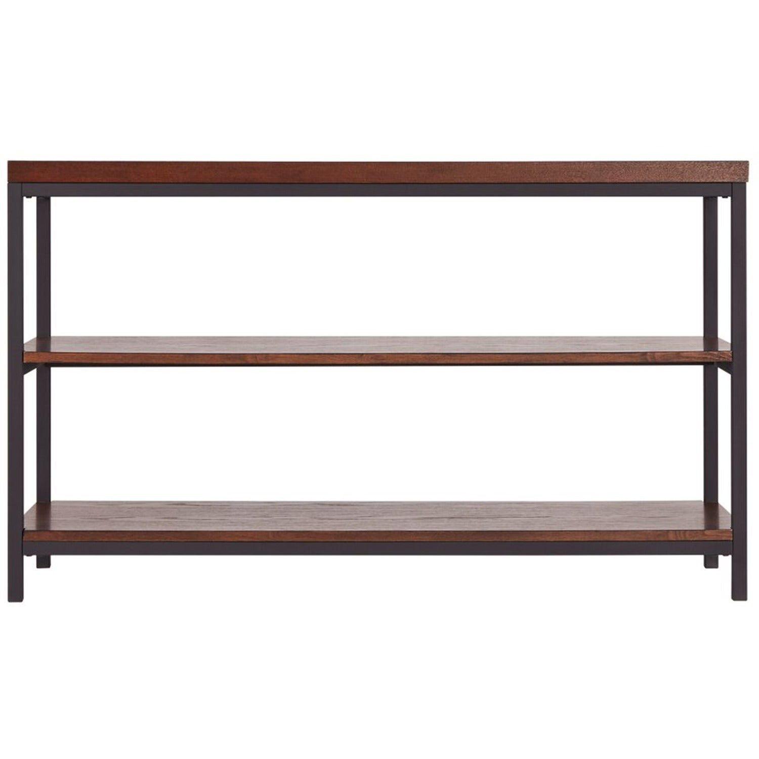 Shop Somme Rustic Metal Frame Storage Sofa Table TV Stand By INSPIRE - Metal table with shelves
