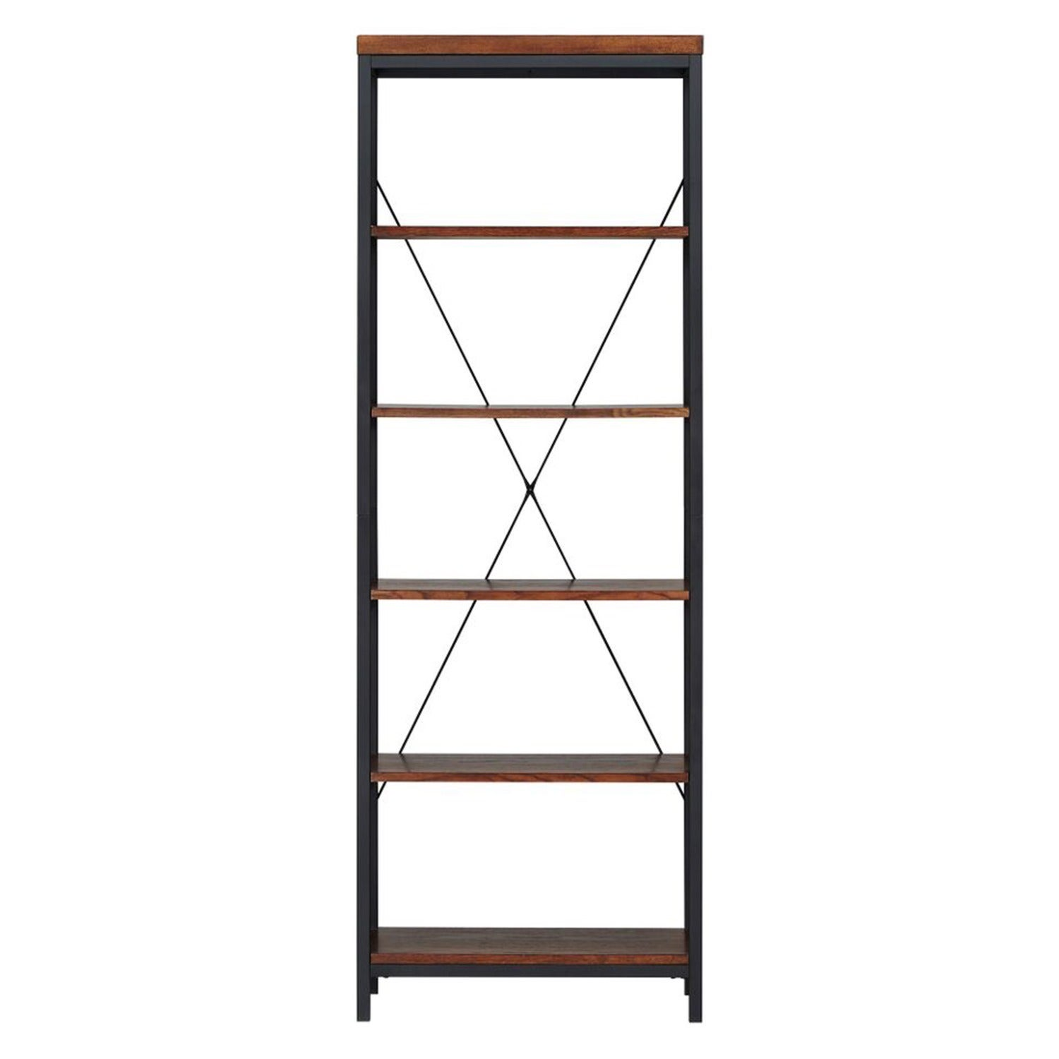 Shop Somme Rustic Metal Frame 6 Tier Bookshelf Media Tower By INSPIRE Q Classic