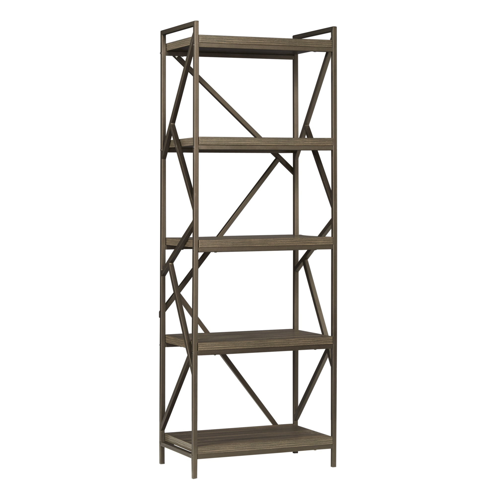 Lincoln Metal Distressed Brown Bookshelf Media Tower by iNSPIRE Q Classic -  Free Shipping Today - Overstock.com - 17494108
